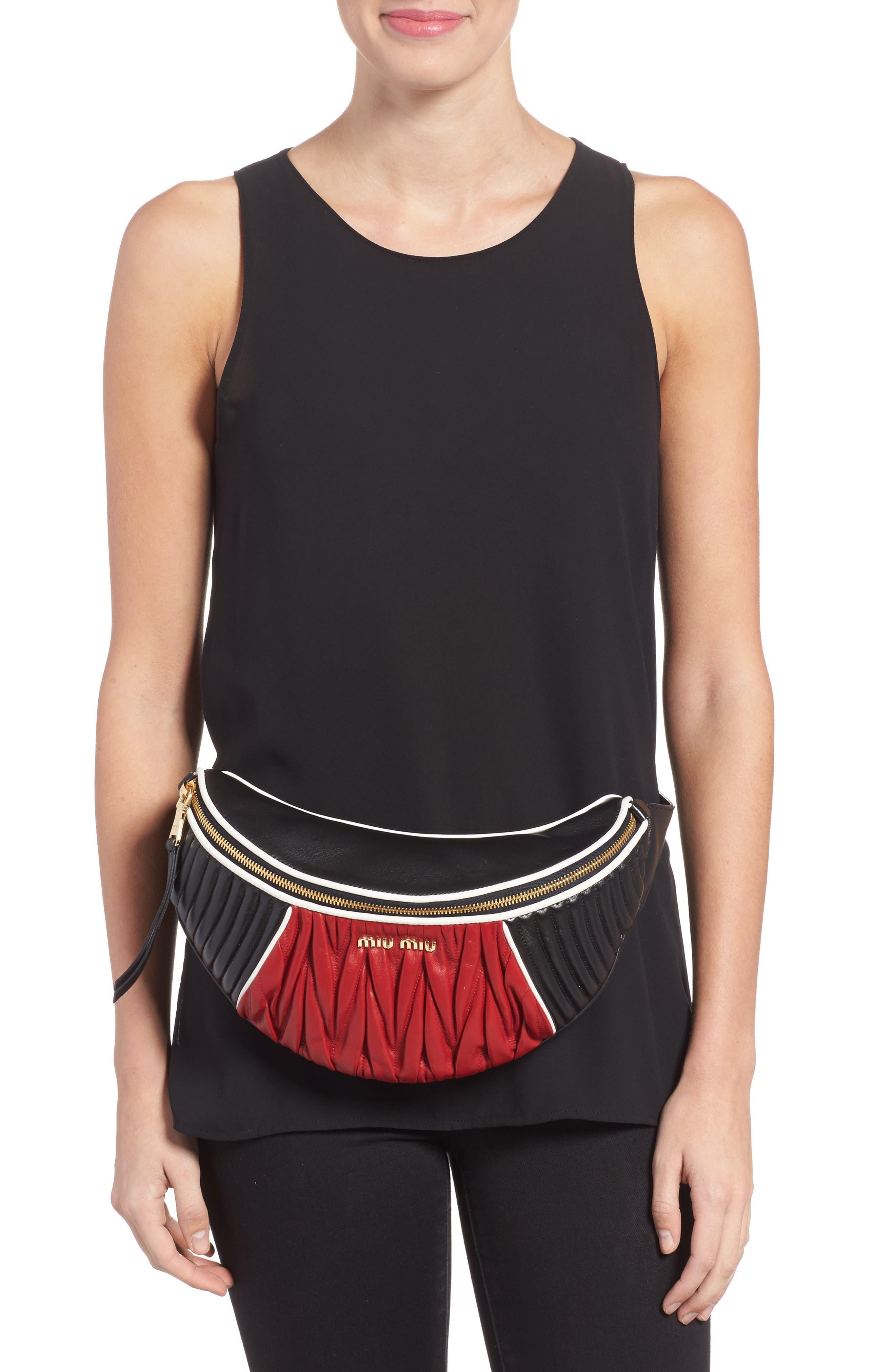 Alternate Image 2  - Miu Miu Rider Matelassé Leather Belt Bag