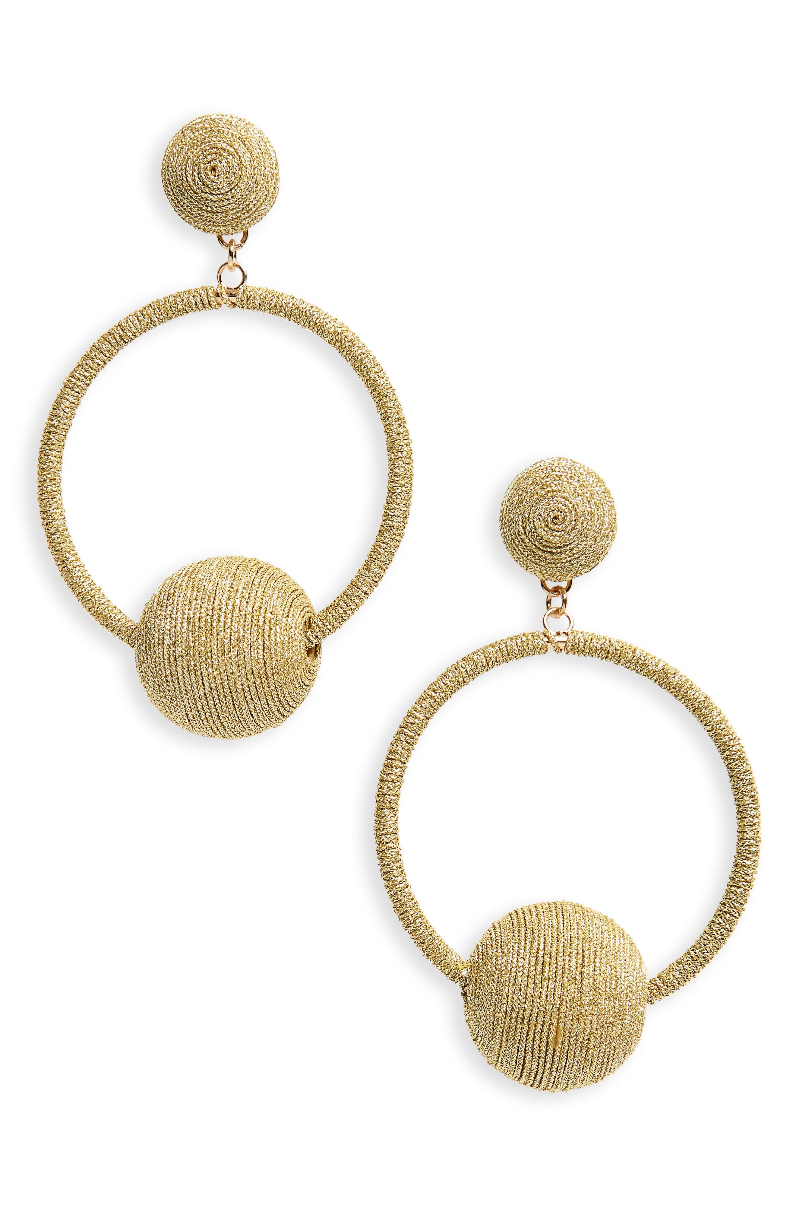 Main Image - Kitsch Metallic Wrapped Drop Earrings