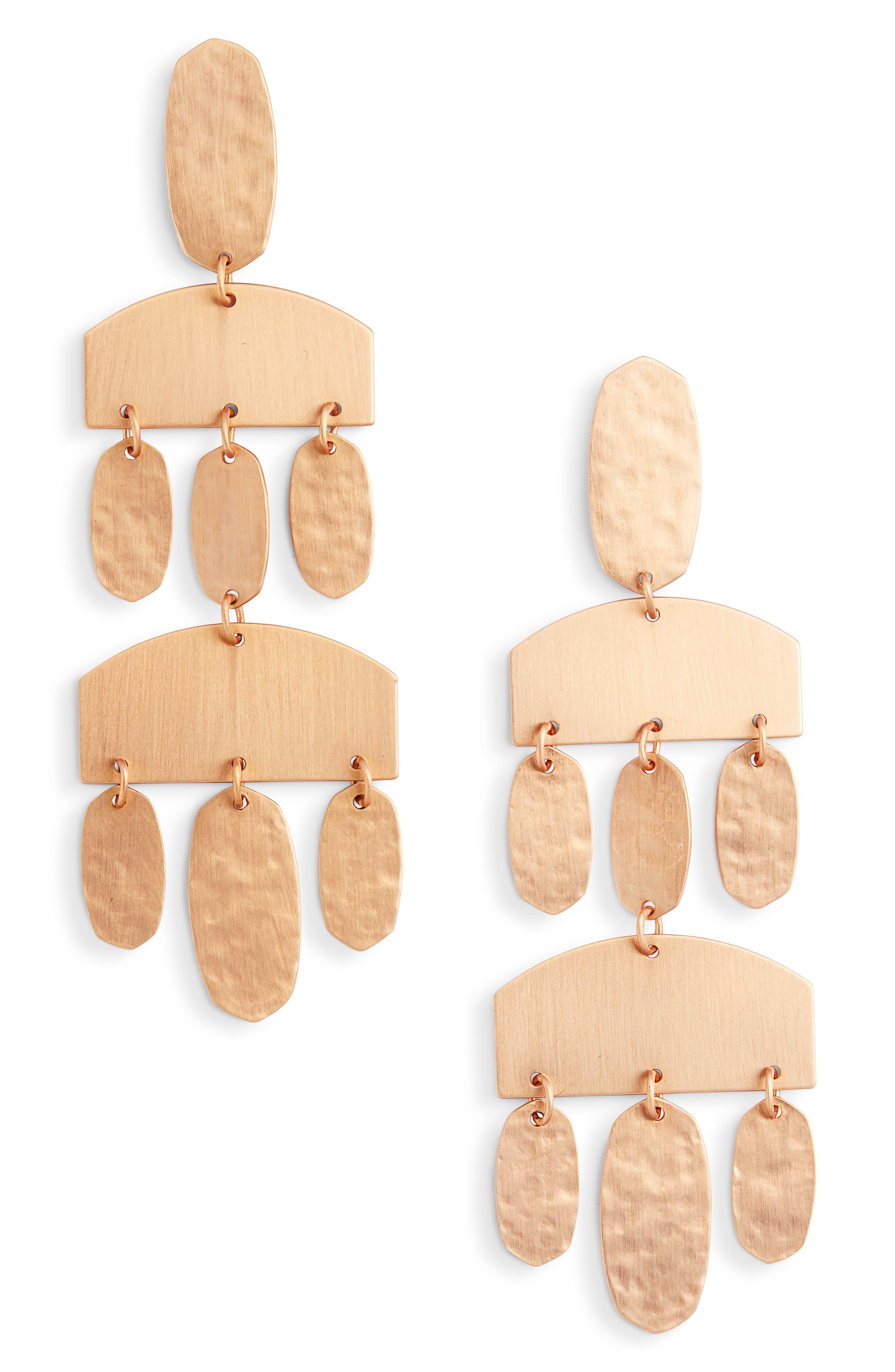 Kendra scott emmet chandelier earrings rose gold modesens kendra scott emmet chandelier earrings rose gold arubaitofo Images