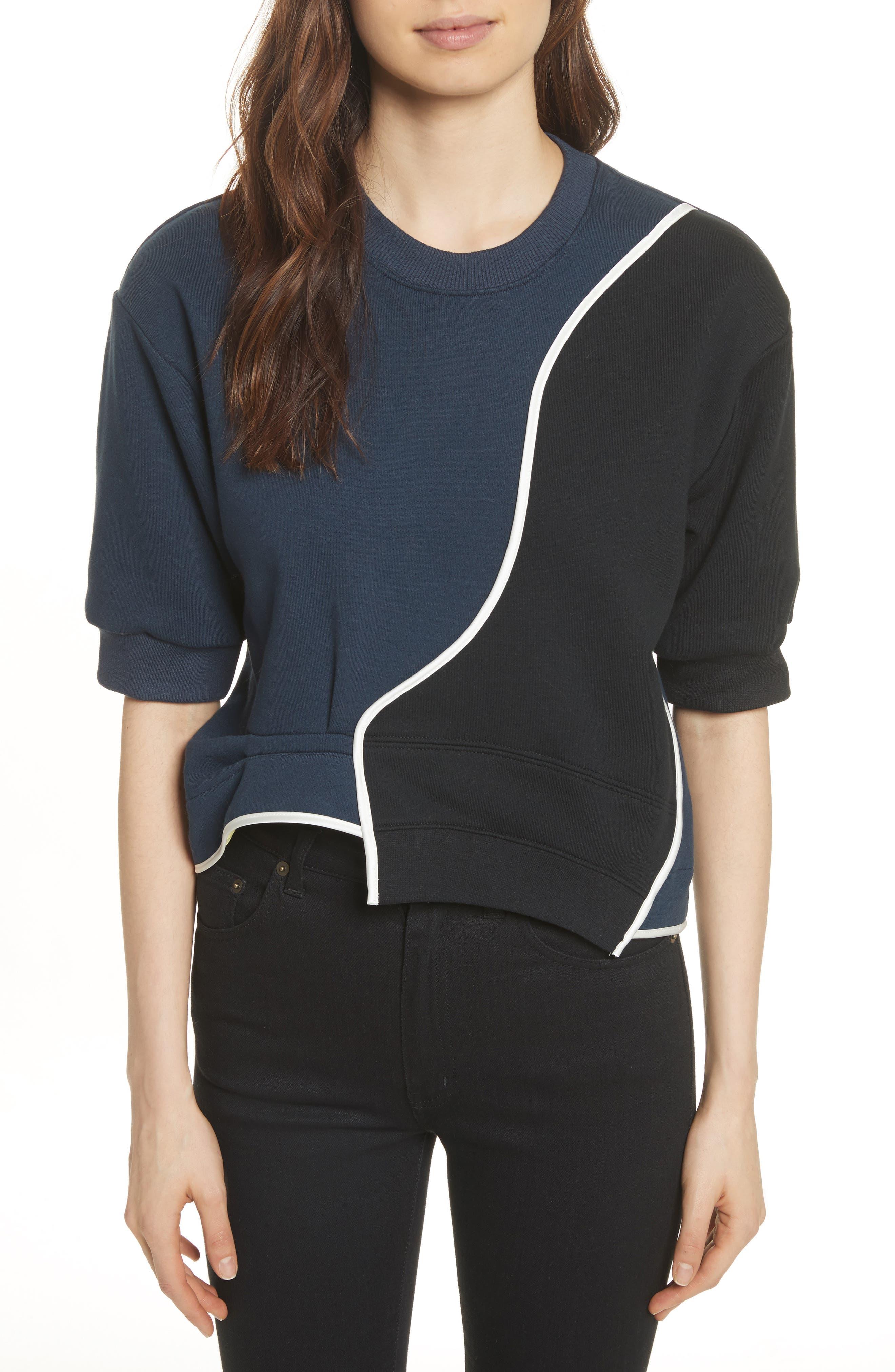 Roberto 03 Colorblock Sweatshirt,                         Main,                         color, Navy