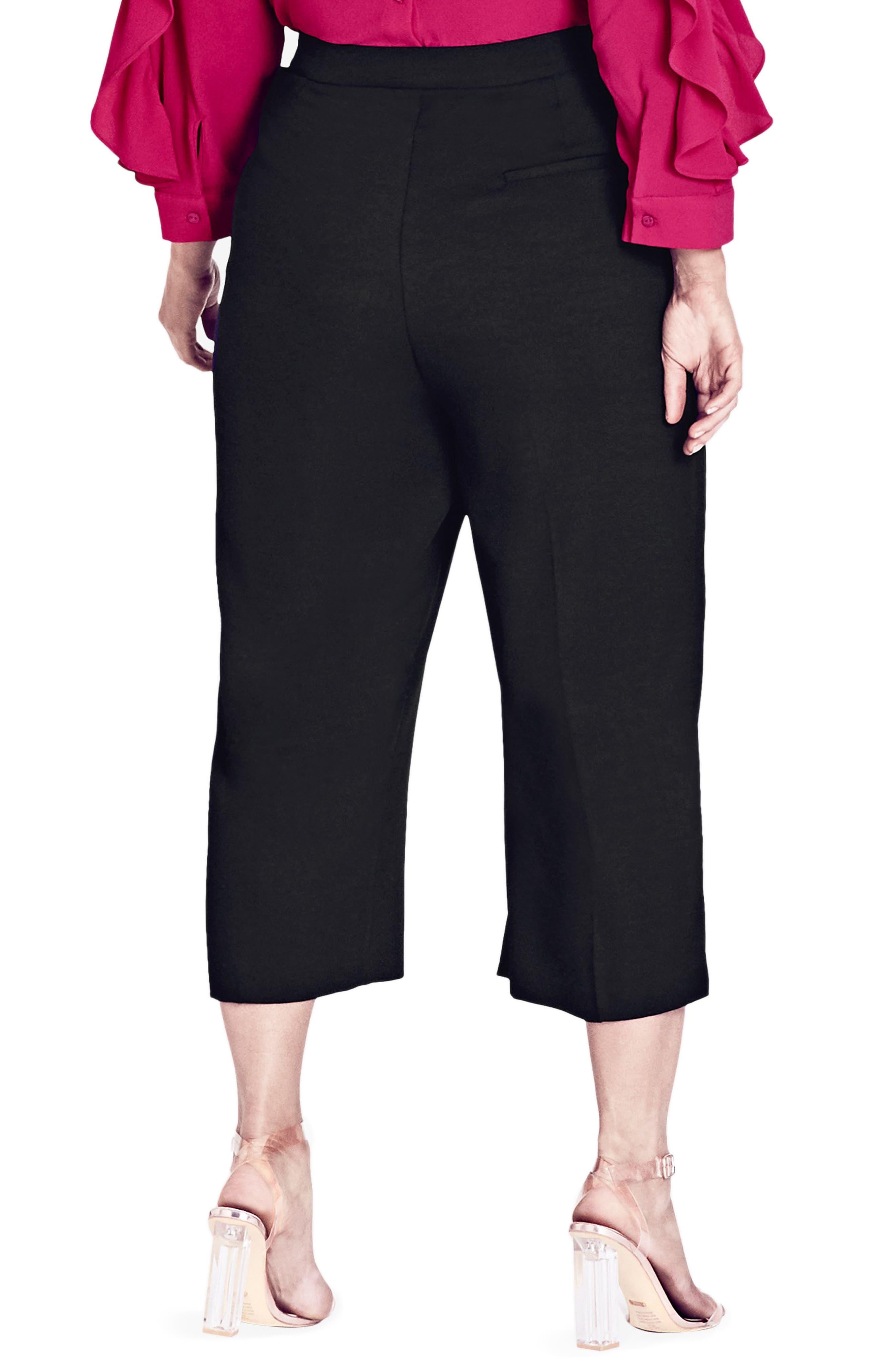 Alternate Image 2  - City Chic Wrap Up Crop Pants (Plus Size)