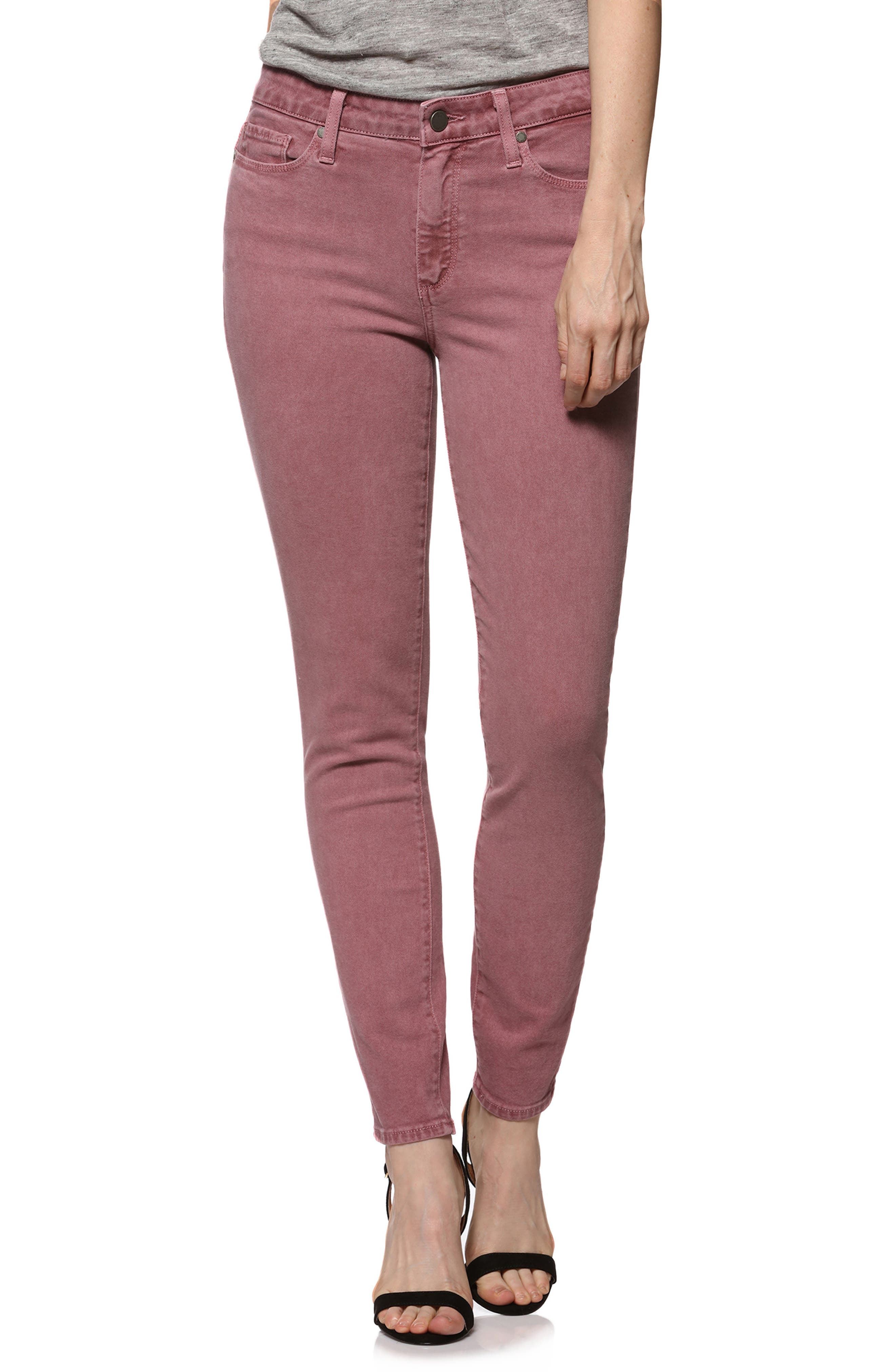 Hoxton High Waist Ankle Ultra Skinny Jeans,                         Main,                         color, Vintage Garden Rose