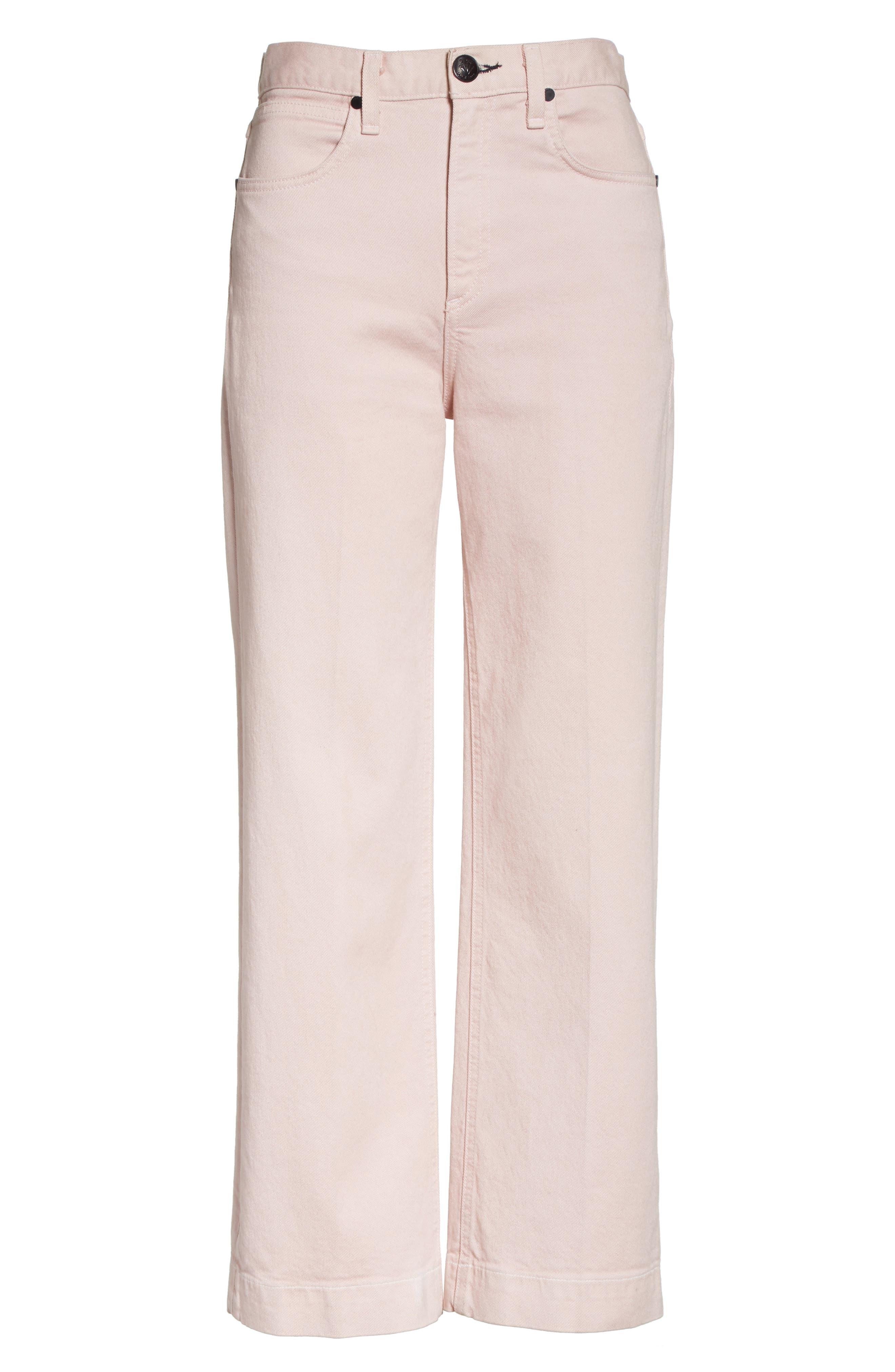 Alternate Image 6  - rag & bone/JEAN Justine High Waist Trouser Jeans (Blush Twill)