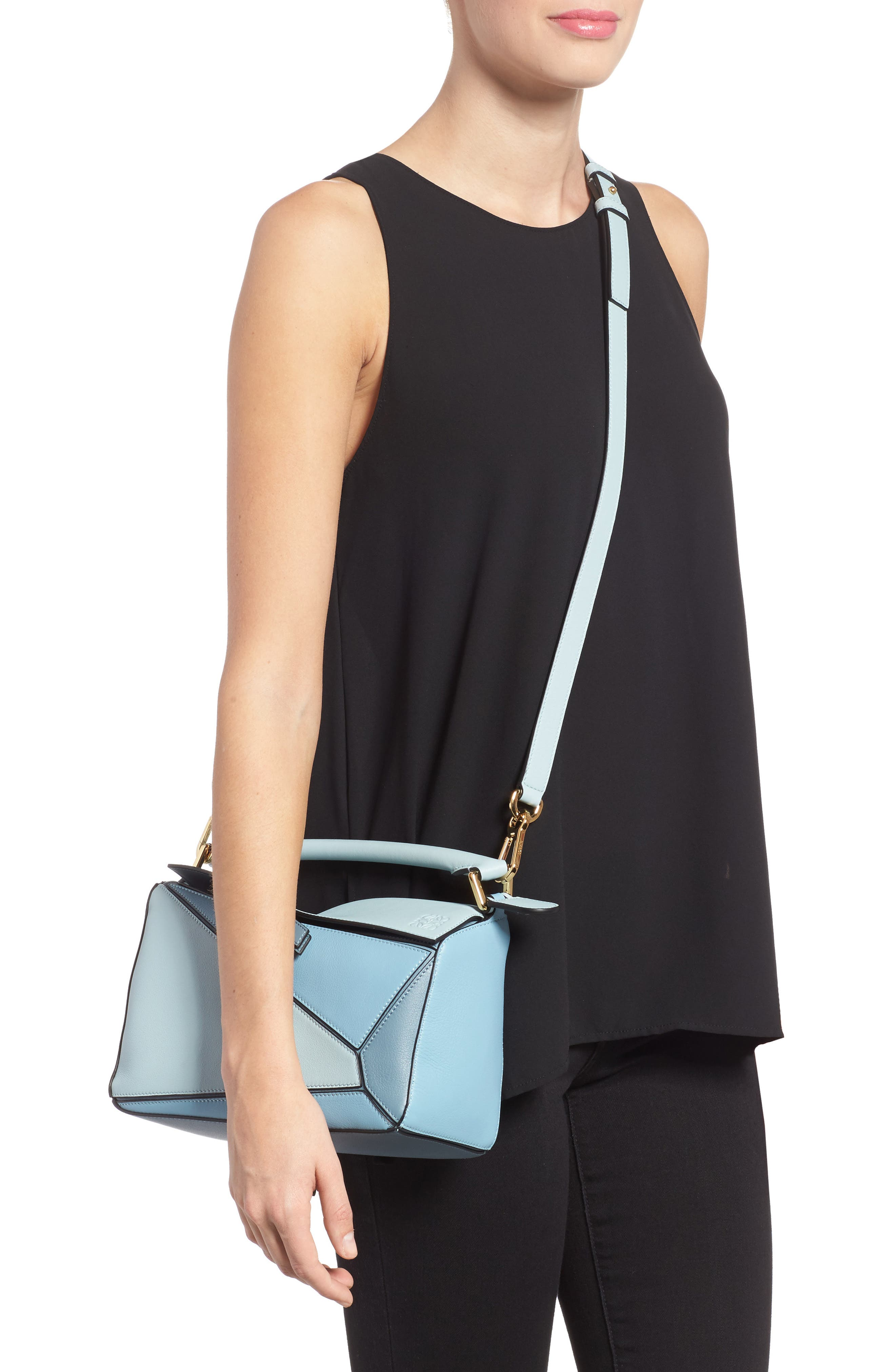 Alternate Image 2  - Loewe Small Puzzle Tricolor Leather Bag