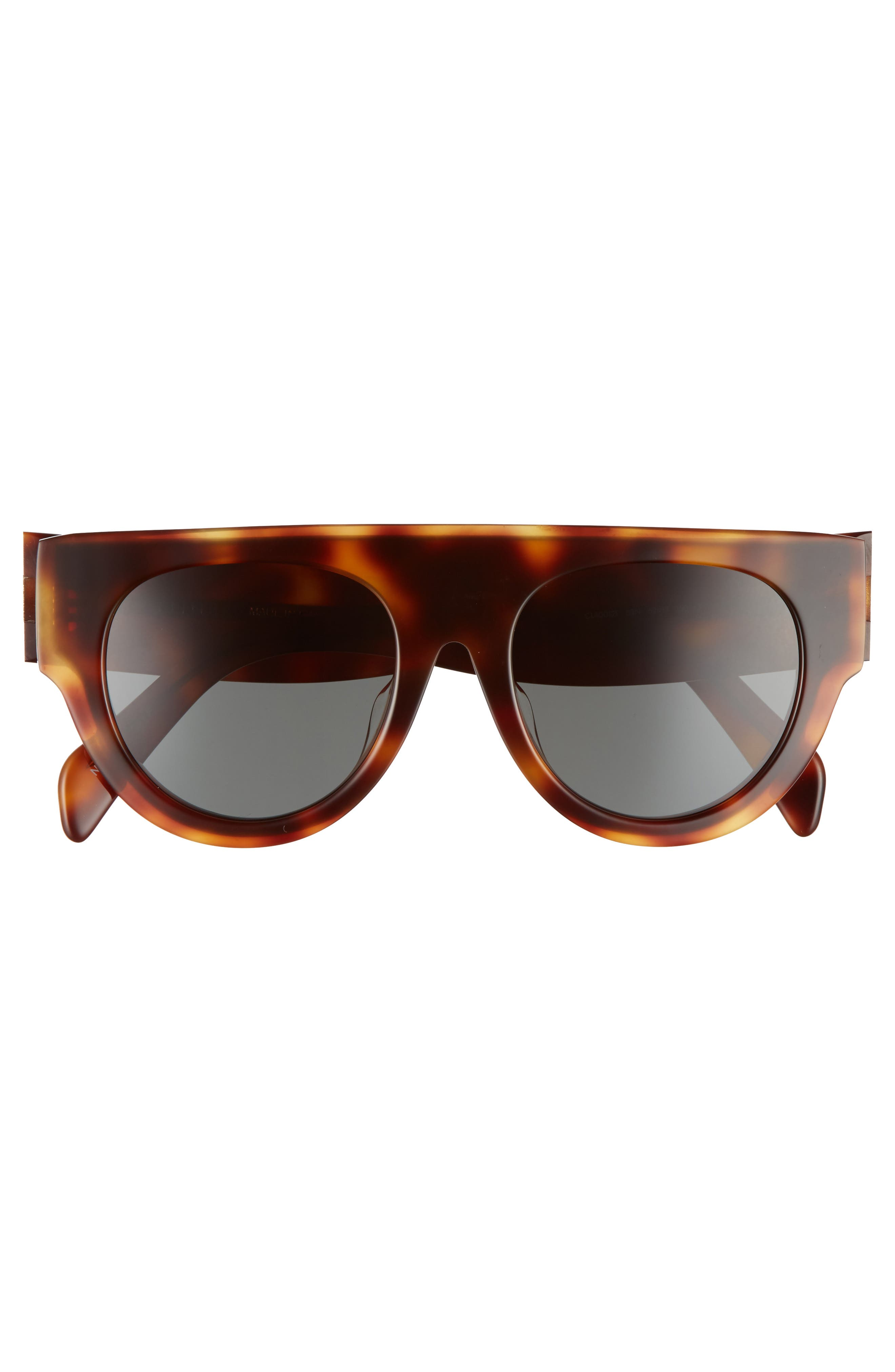 52mm Pilot Sunglasses,                             Alternate thumbnail 3, color,                             Blonde Havana/ Green