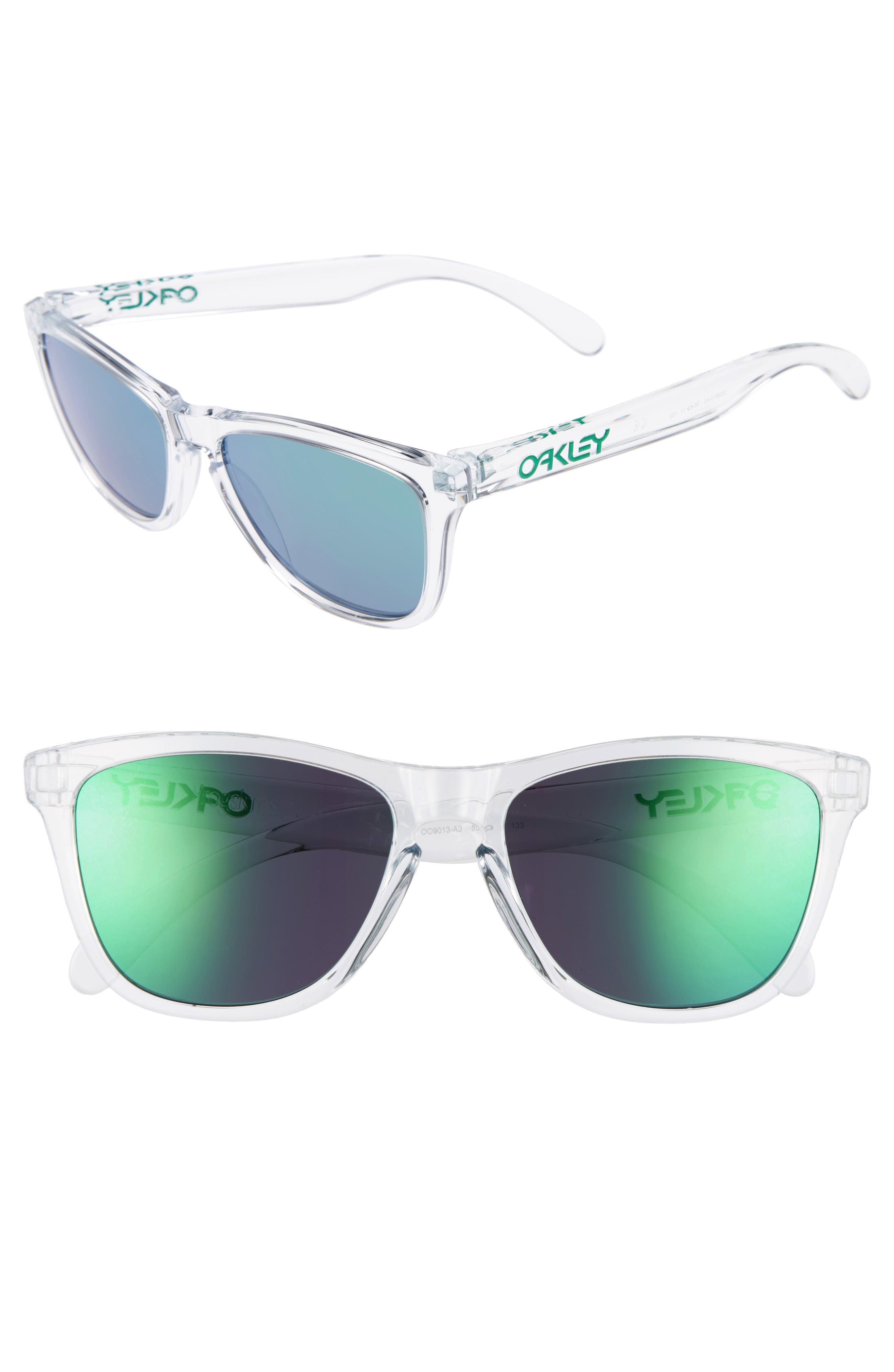 Frogskins<sup>®</sup> 55mm Sunglasses,                         Main,                         color, Jade Iridescent