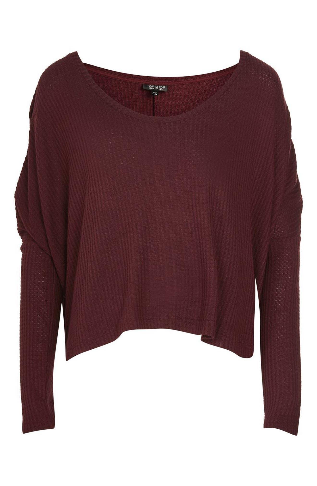 Alternate Image 4  - Topshop Waffle Knit Sweatshirt