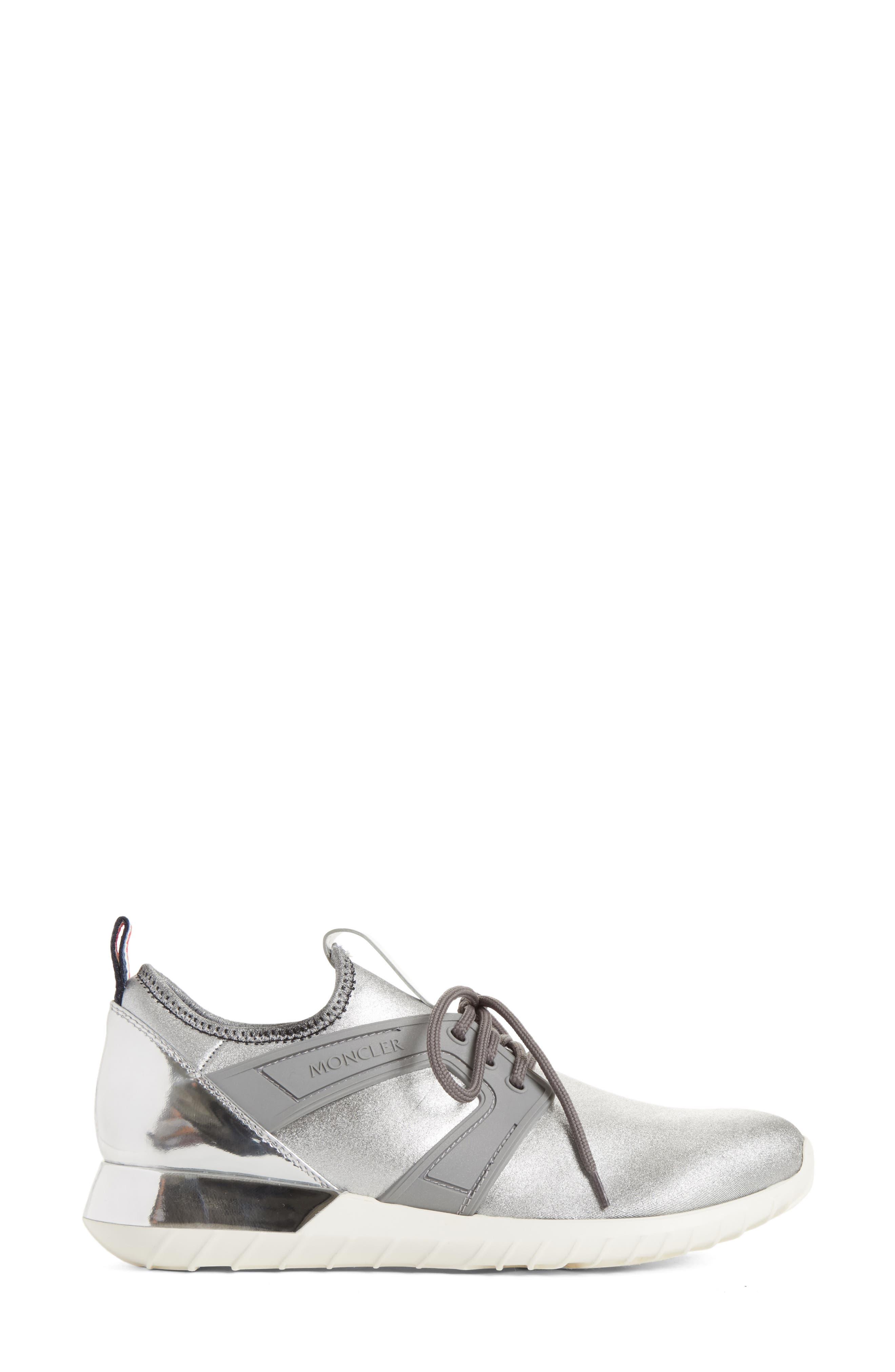 Meline Runner Sneaker,                             Alternate thumbnail 3, color,                             Silver