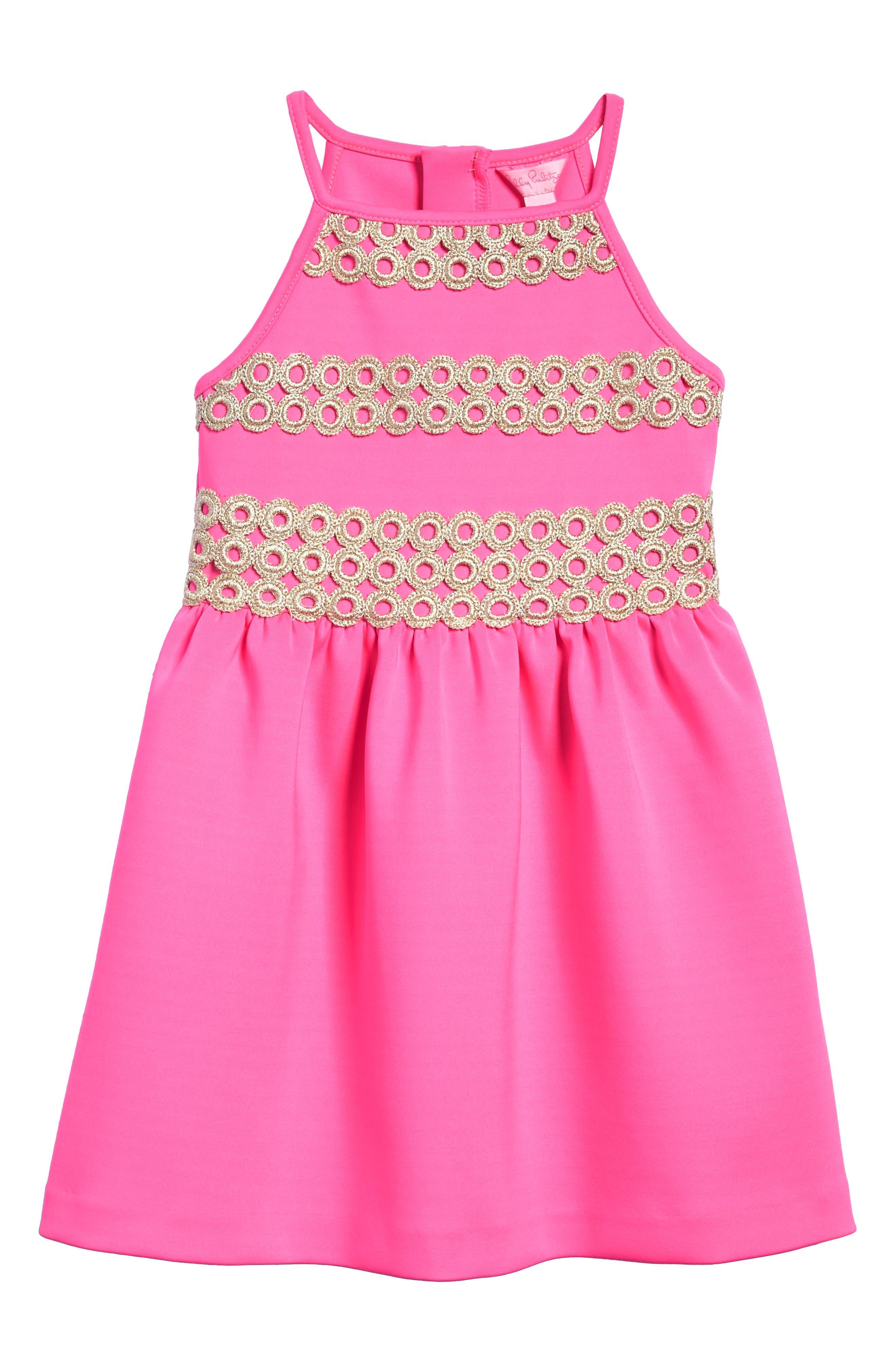 Elize Fit & Flare Dress,                         Main,                         color, Raz Berry