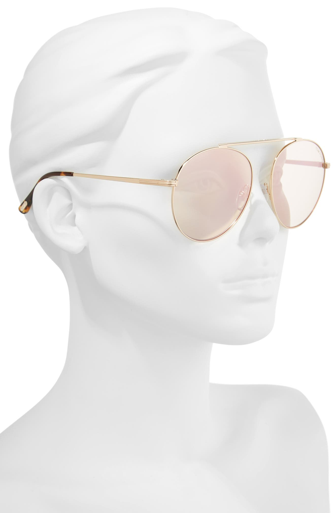 Alternate Image 2  - Tom Ford Simone 58mm Gradient Mirrored Round Sunglasses (Nordstrom Exclusive)