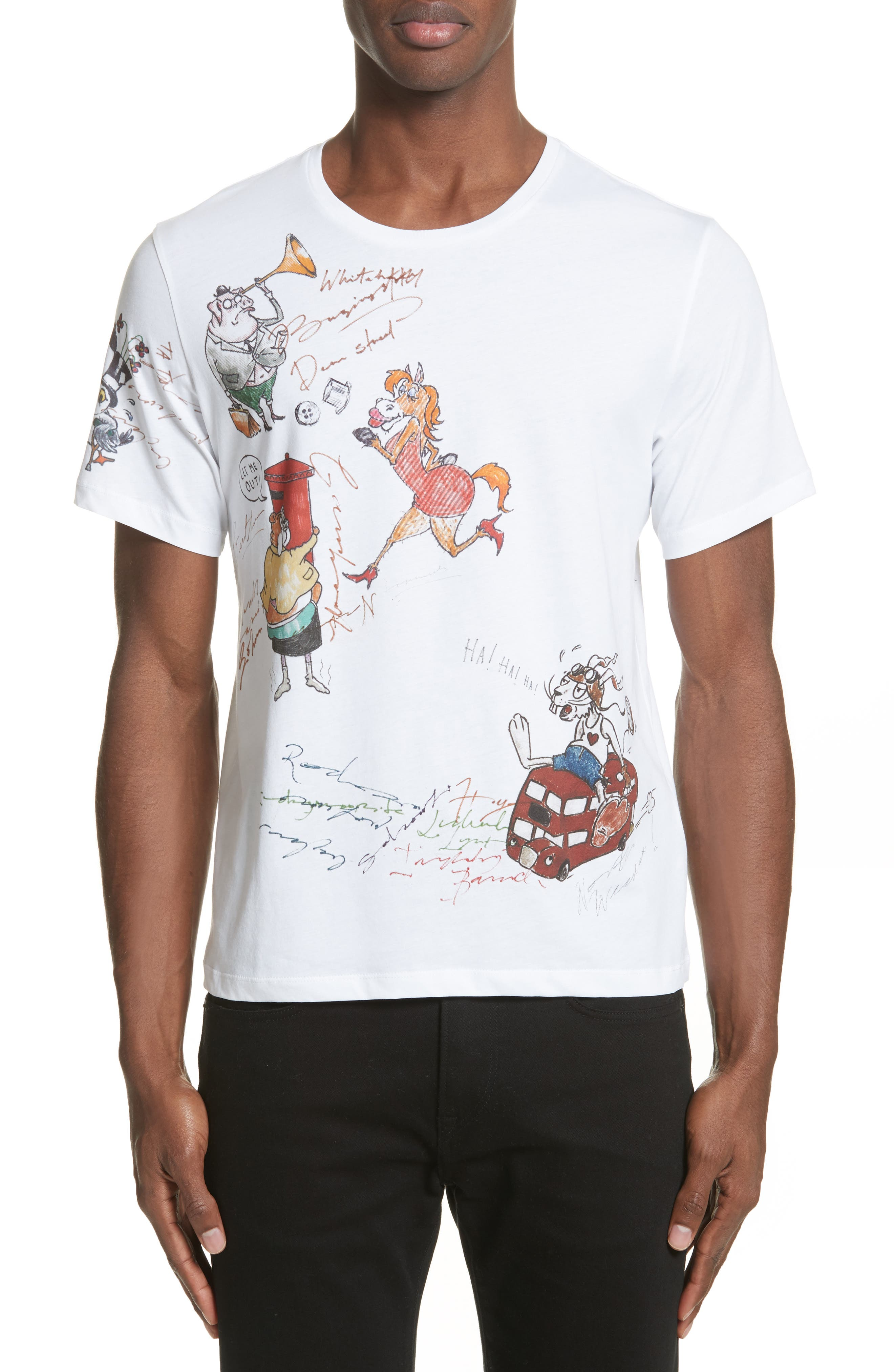 Alternate Image 1 Selected - Burberry Sketch Print Graphic T-Shirt