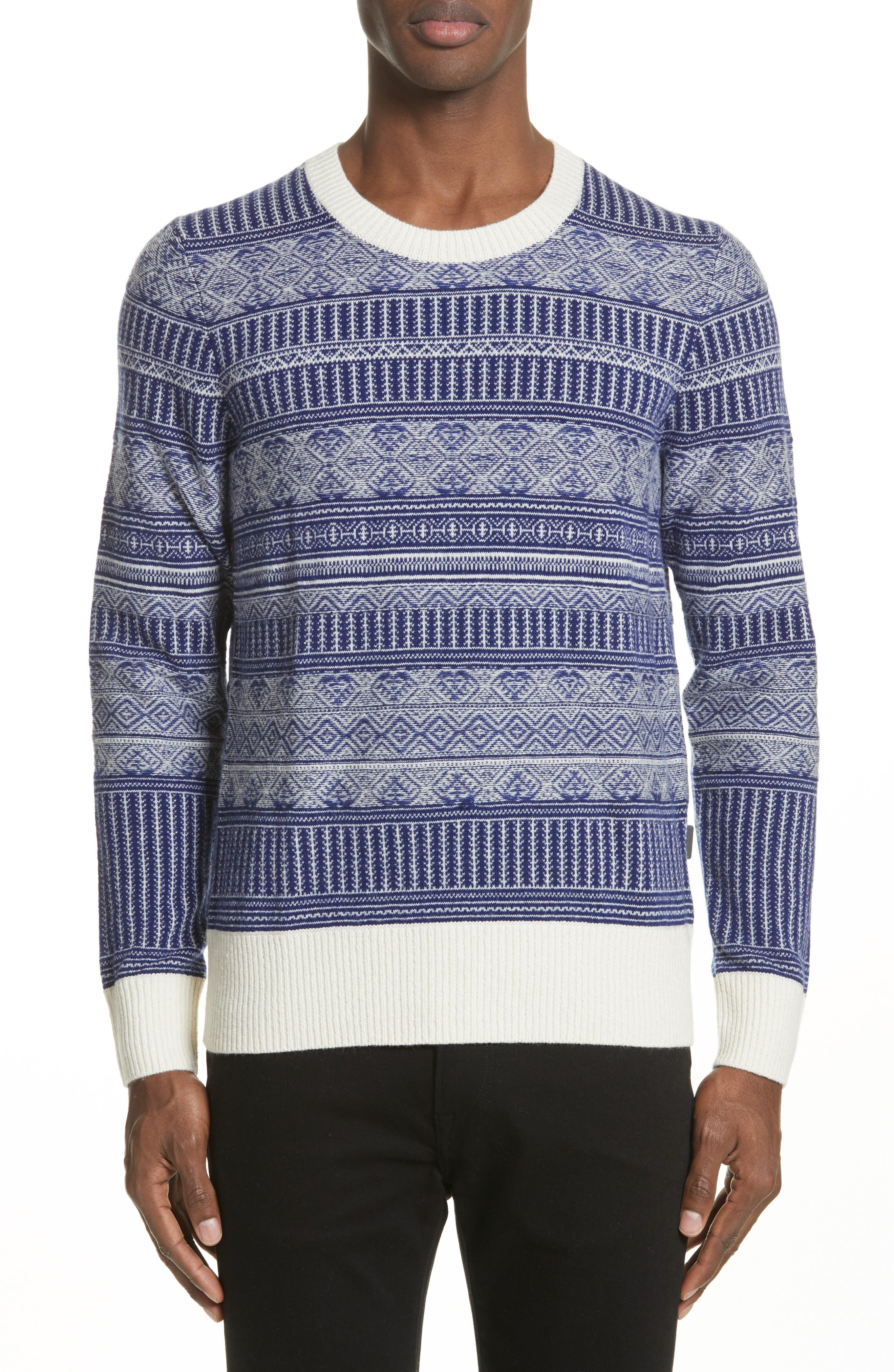 Tredway Wool & Cashmere Sweater,                         Main,                         color, Bright Navy