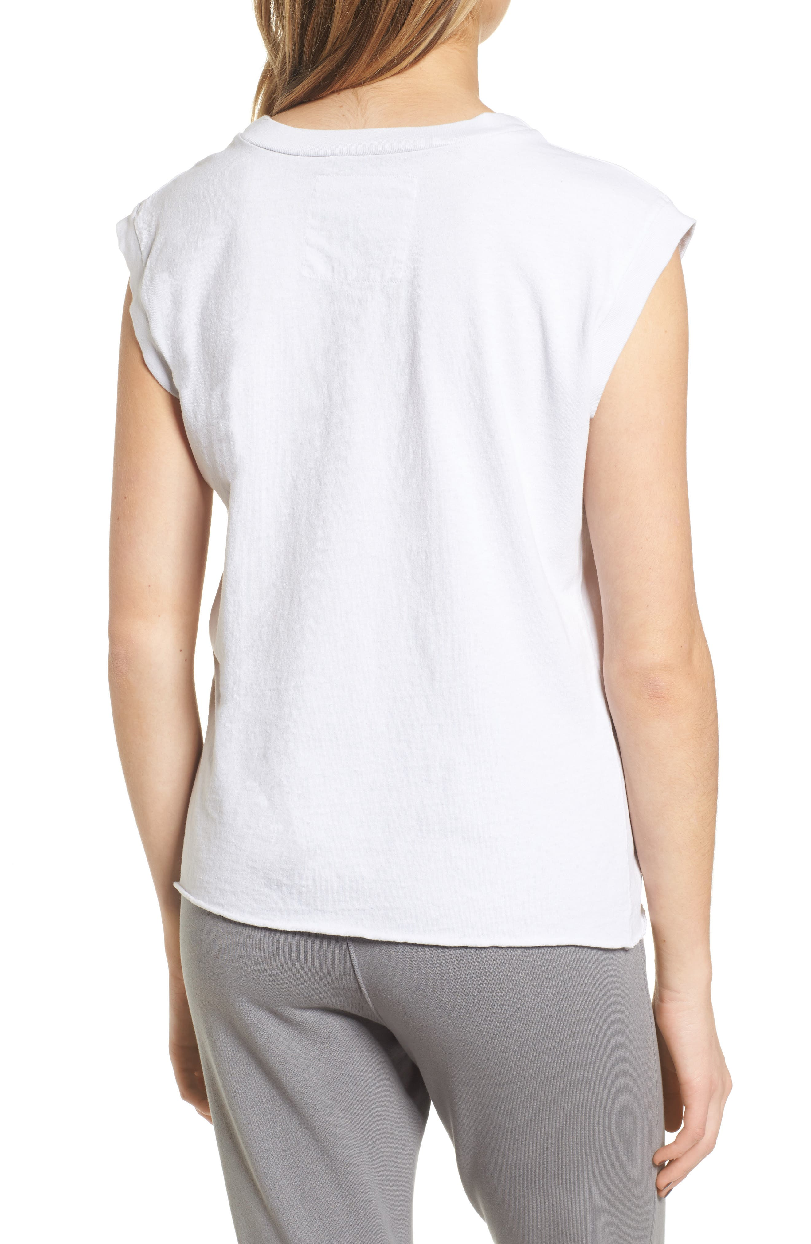 Tee Lab Muscle Tank,                             Alternate thumbnail 2, color,                             Dirty White