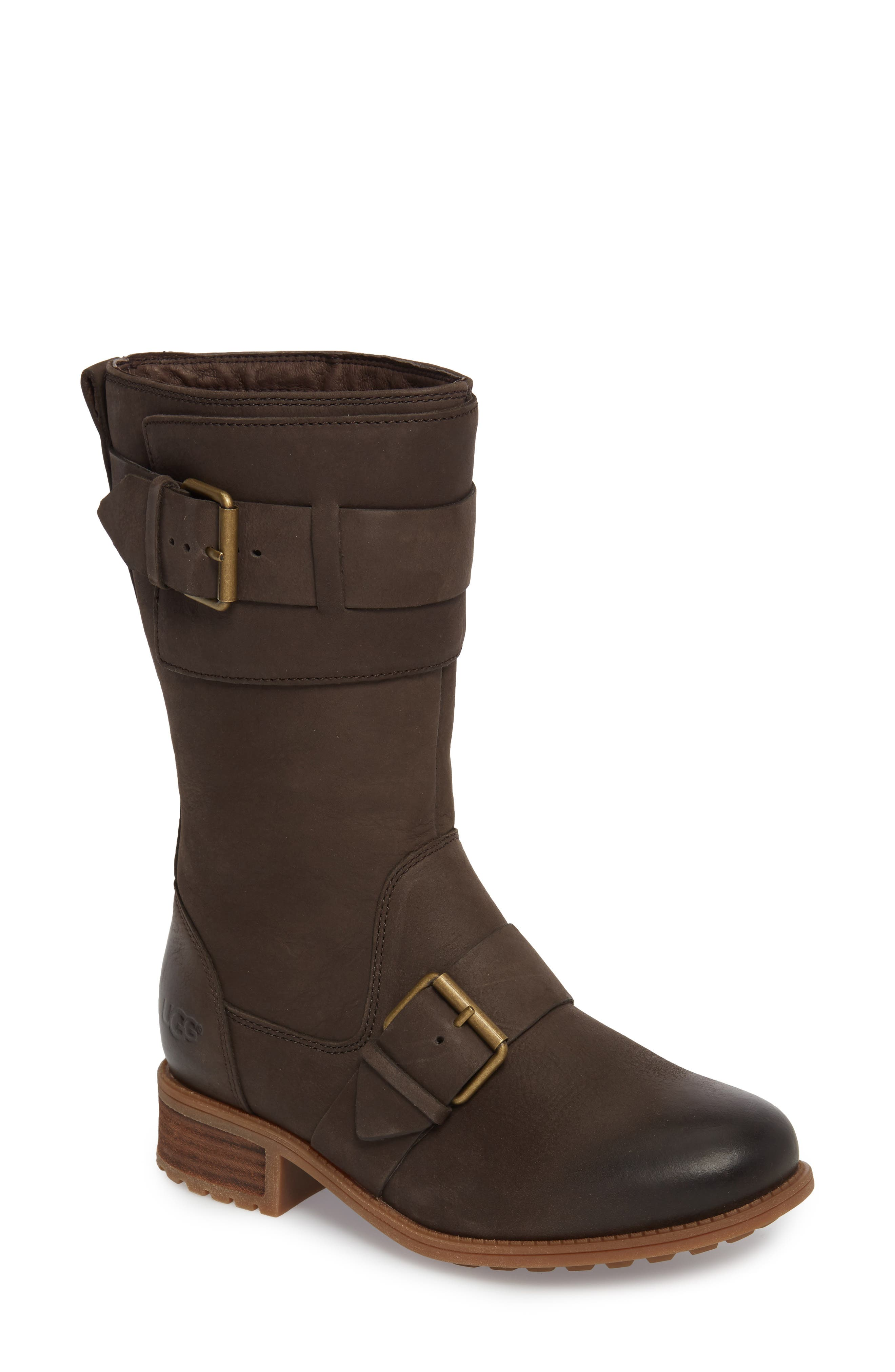 Chancey Moto Boot,                         Main,                         color, Stout Leather