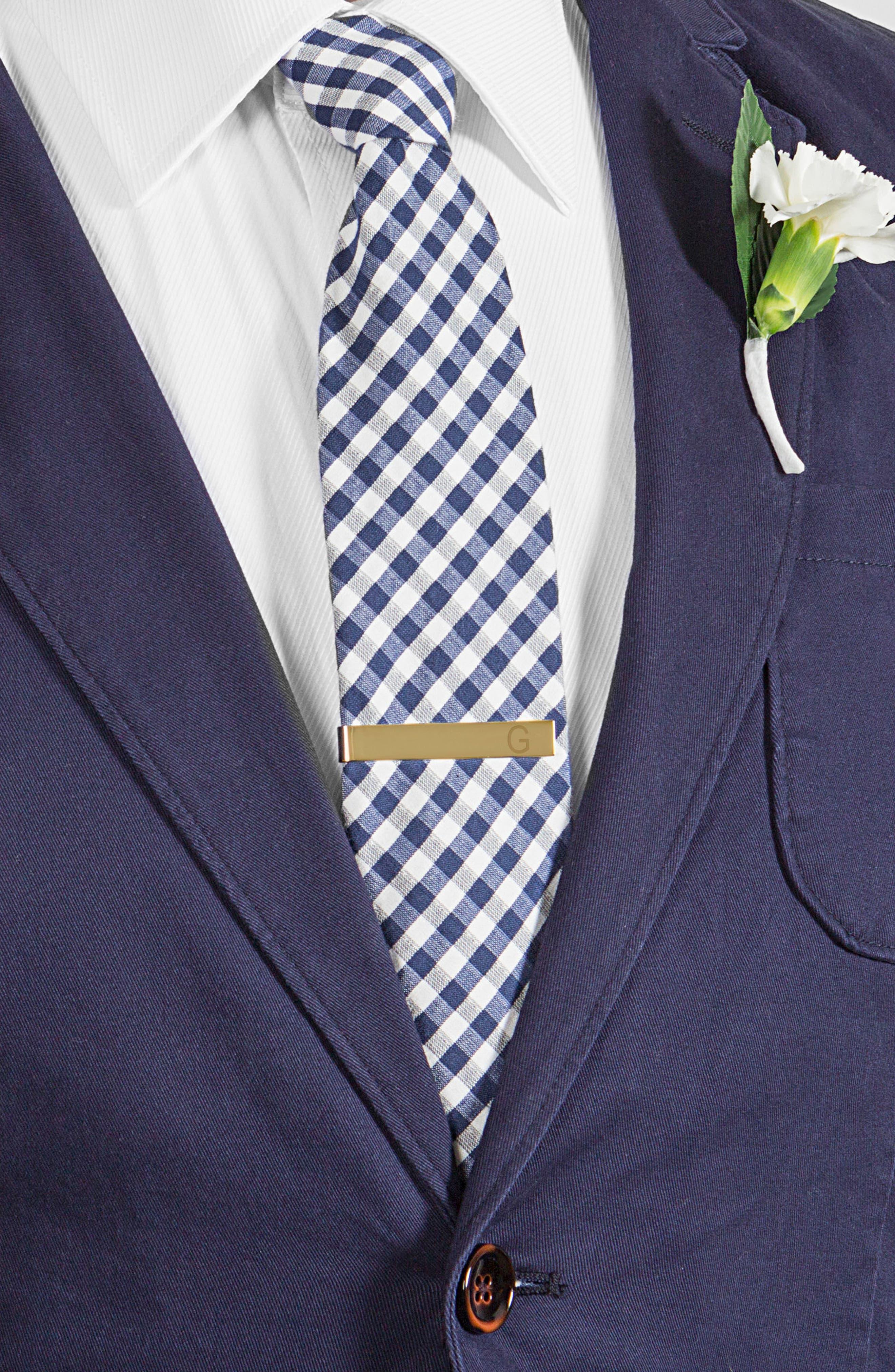 Monogram Cuff Links & Tie Bar Set,                             Alternate thumbnail 2, color,