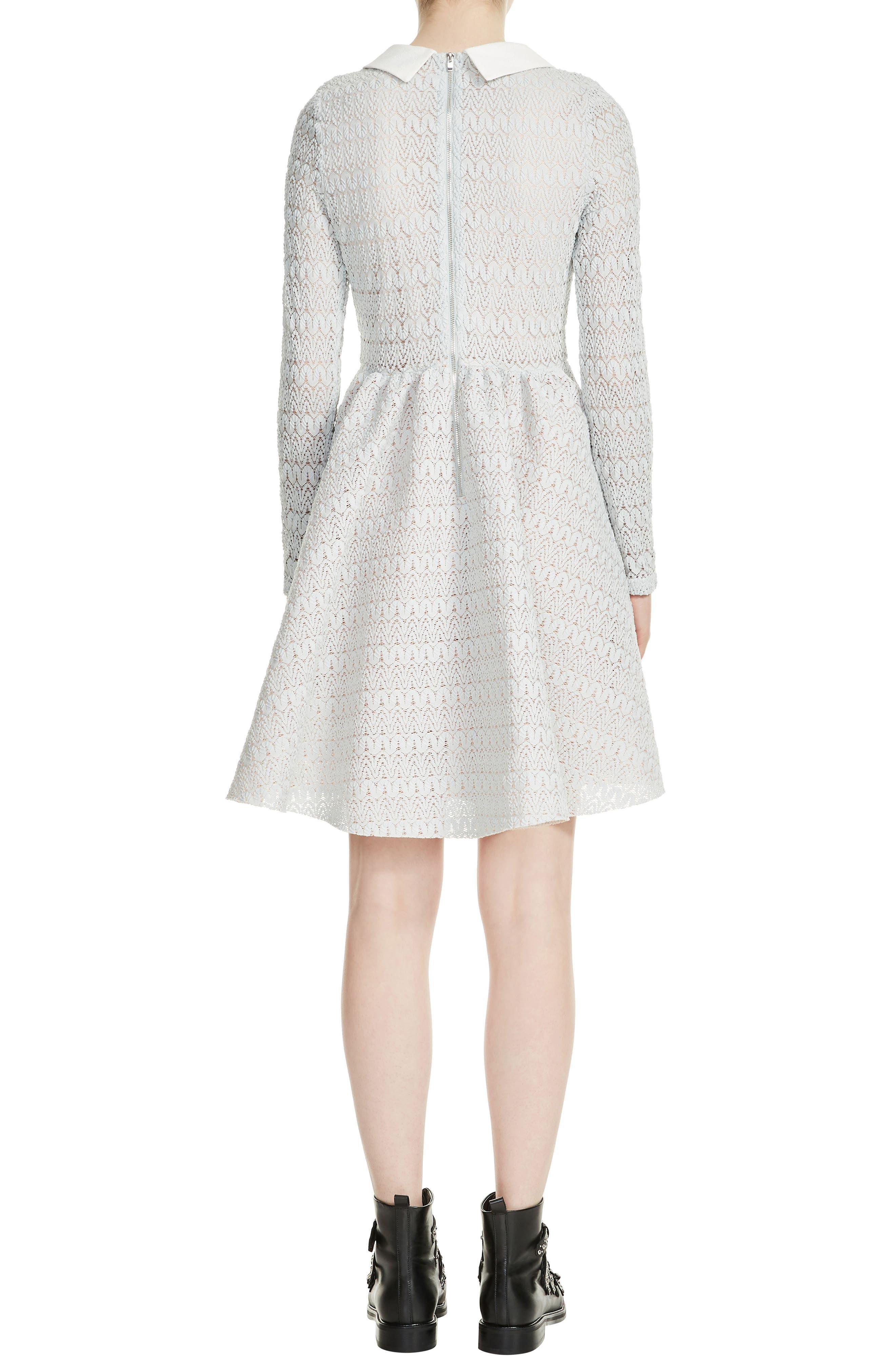 Rayone Lace Dress,                             Alternate thumbnail 2, color,                             Blue Sky