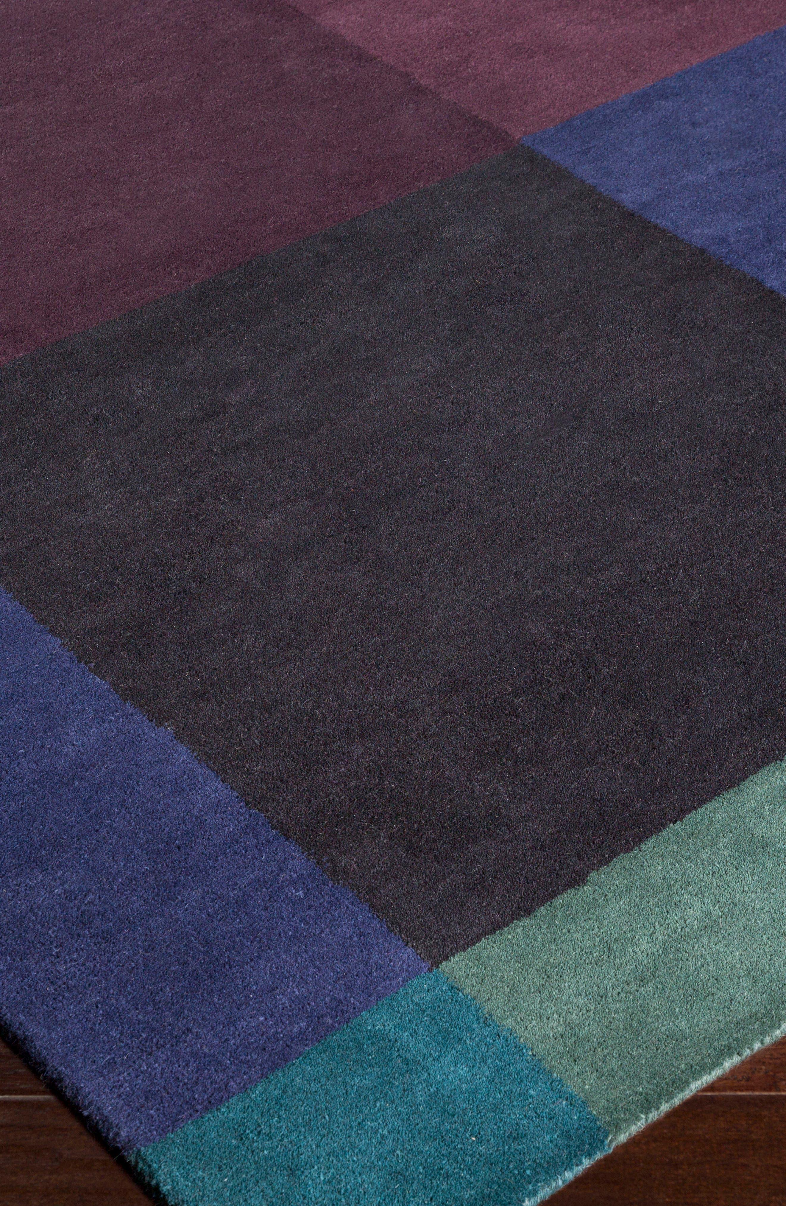x Surya Plaid Wool Rug,                             Alternate thumbnail 2, color,                             Blue
