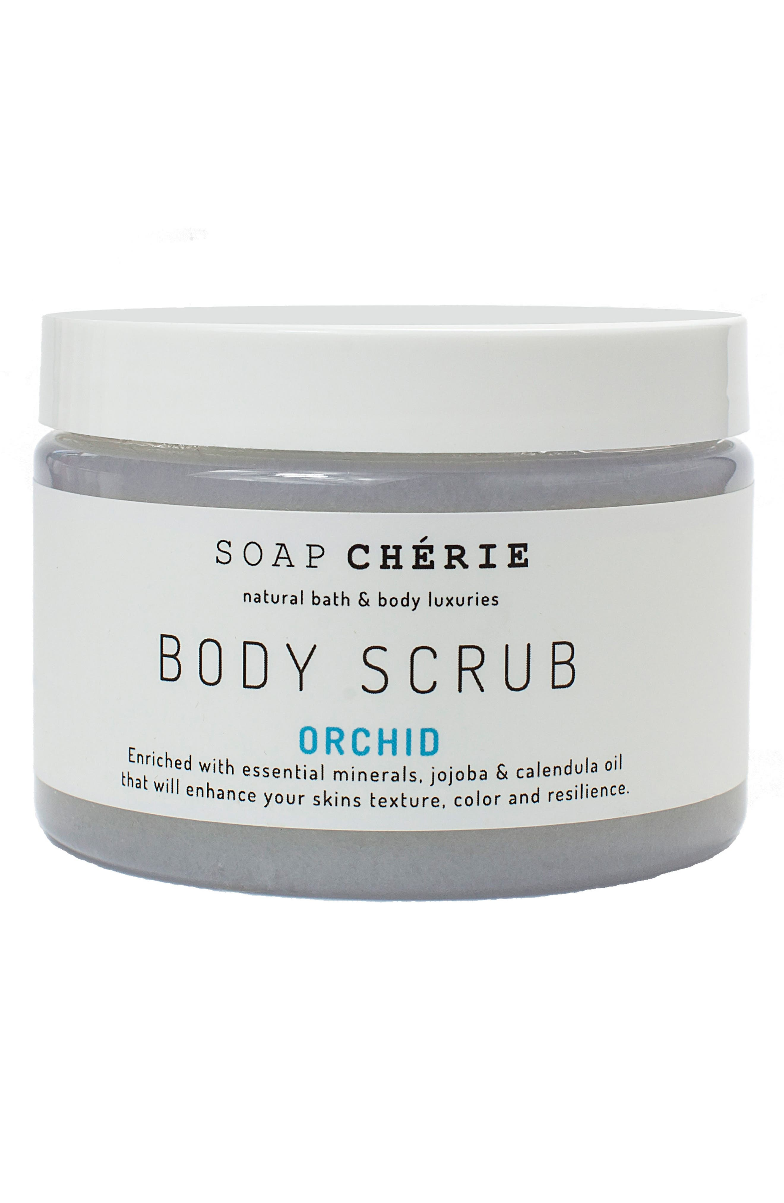 Soap Chérie Body Scrub,                             Main thumbnail 1, color,                             Orchid