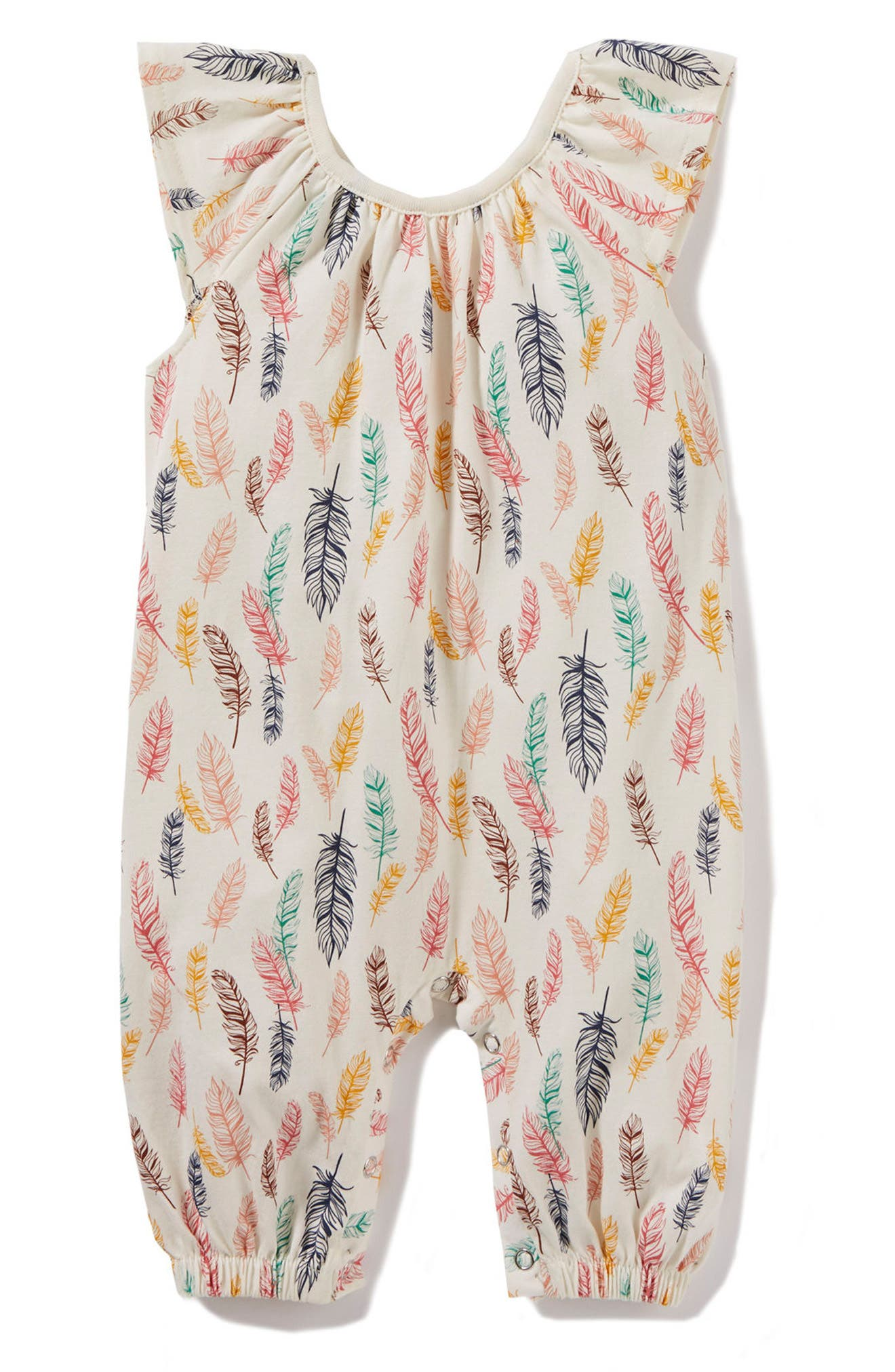 Peek Feather Romper (Baby Girls)