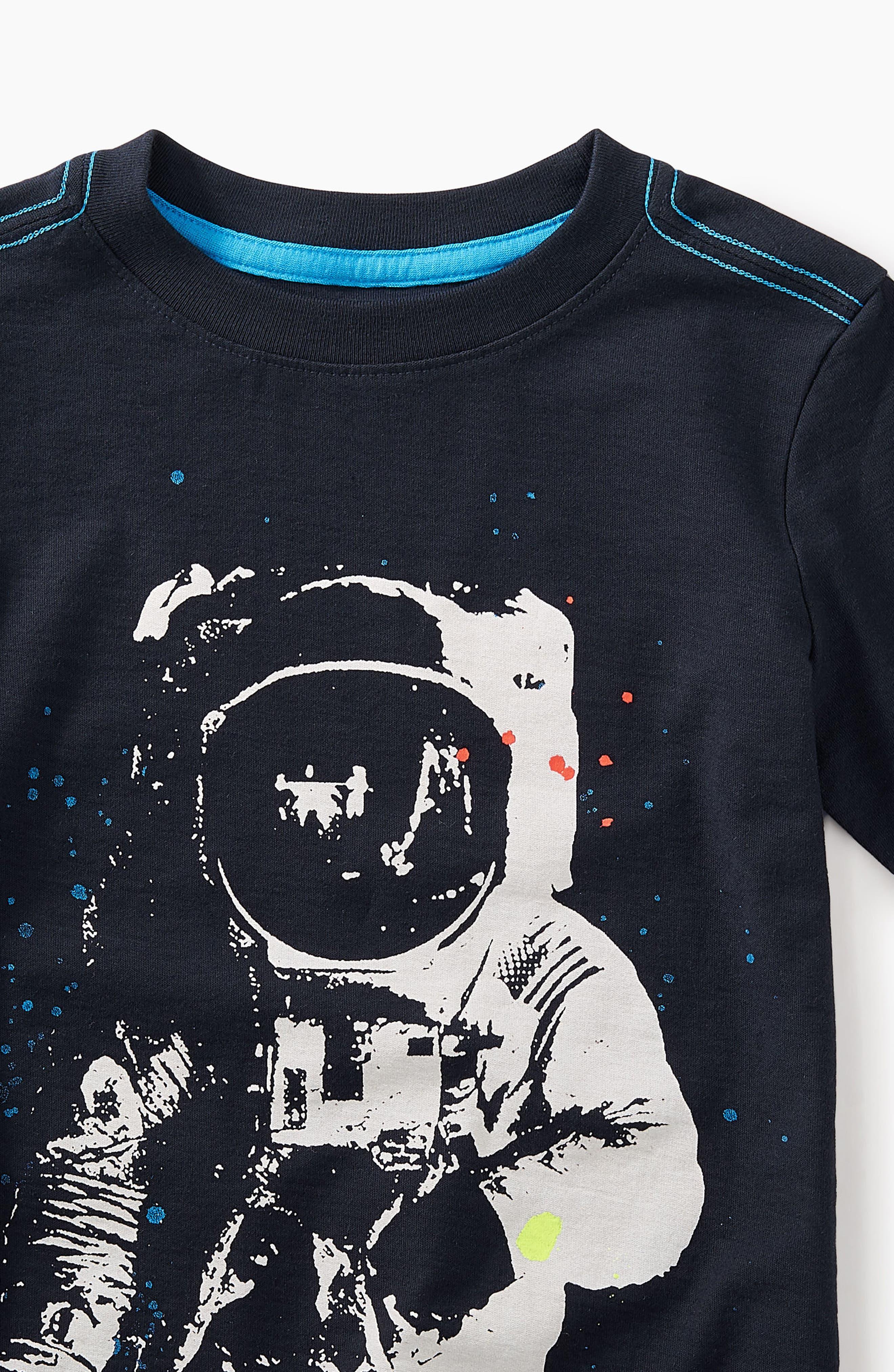 Astronaut Graphic T-Shirt,                             Alternate thumbnail 2, color,                             Heritage Blue