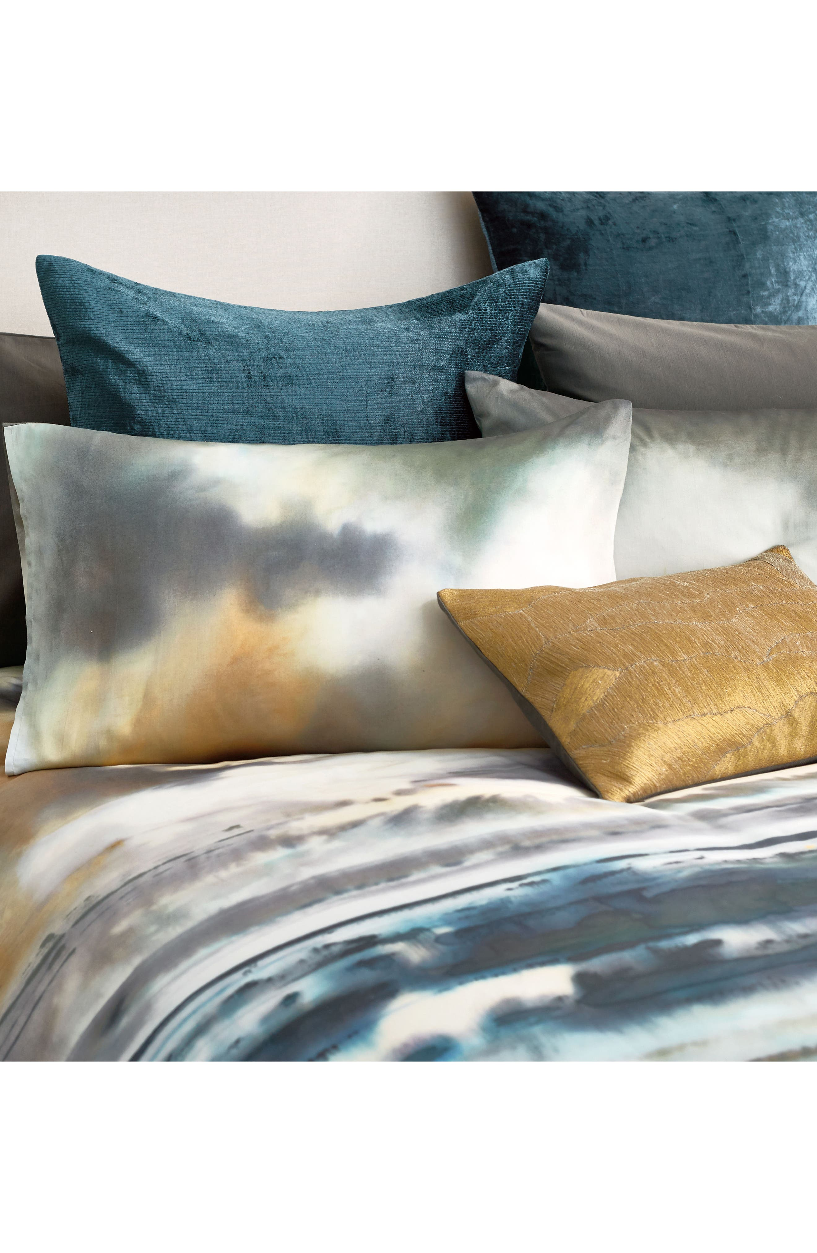 After The Storm Accent Pillow,                             Alternate thumbnail 3, color,                             Gold