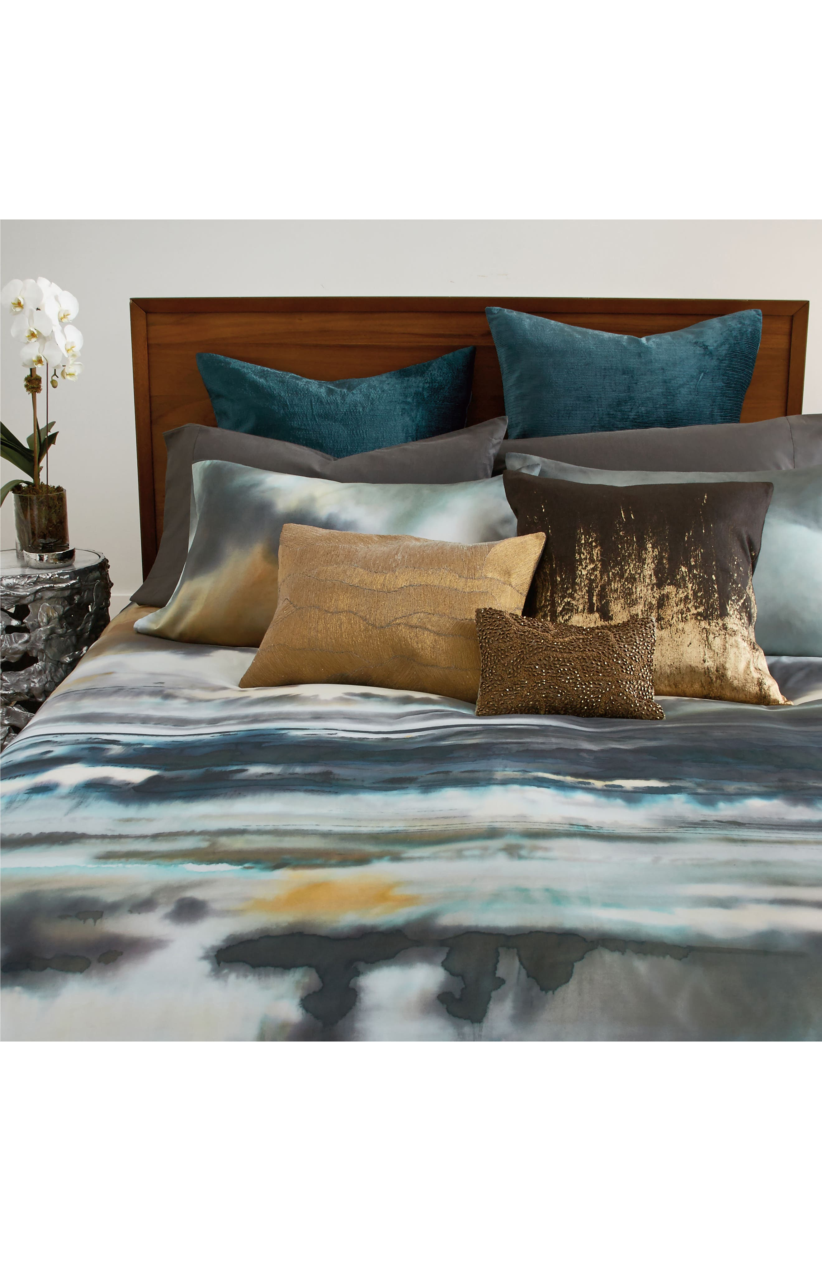 After The Storm Duvet Cover,                             Alternate thumbnail 5, color,                             Surf