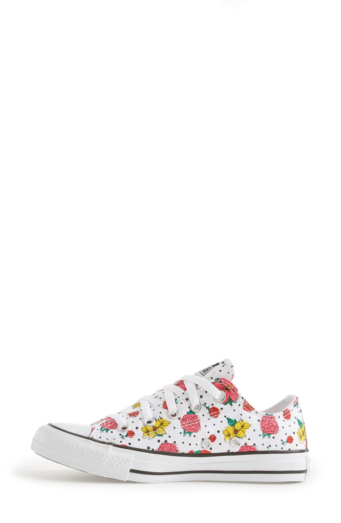 Alternate Image 6  - Converse Chuck Taylor® All Star® Floral Polka Dot Low Top Sneaker (Women)