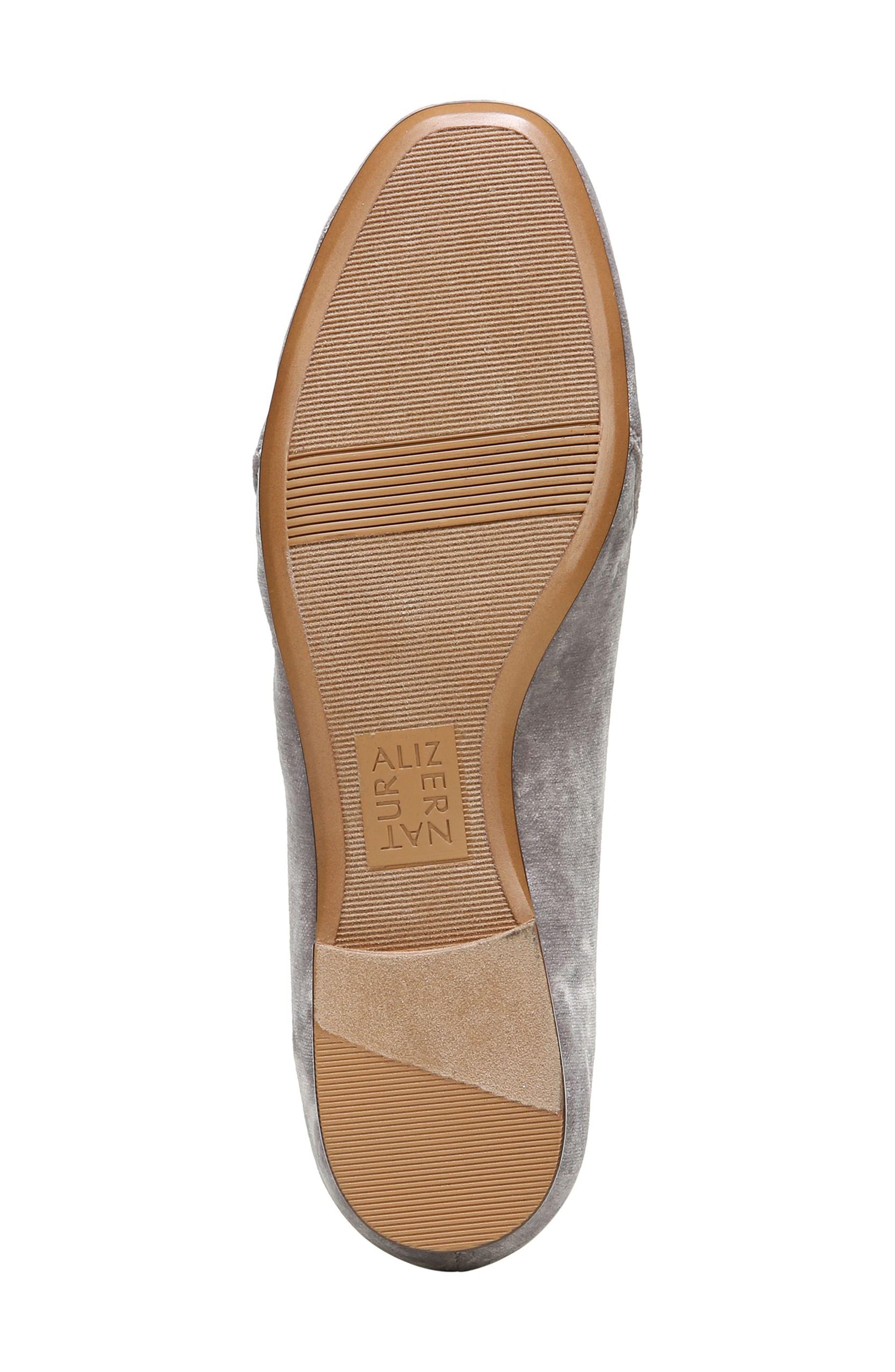 Emiline Flat Loafer,                             Alternate thumbnail 6, color,                             Taupe Velvet Fabric