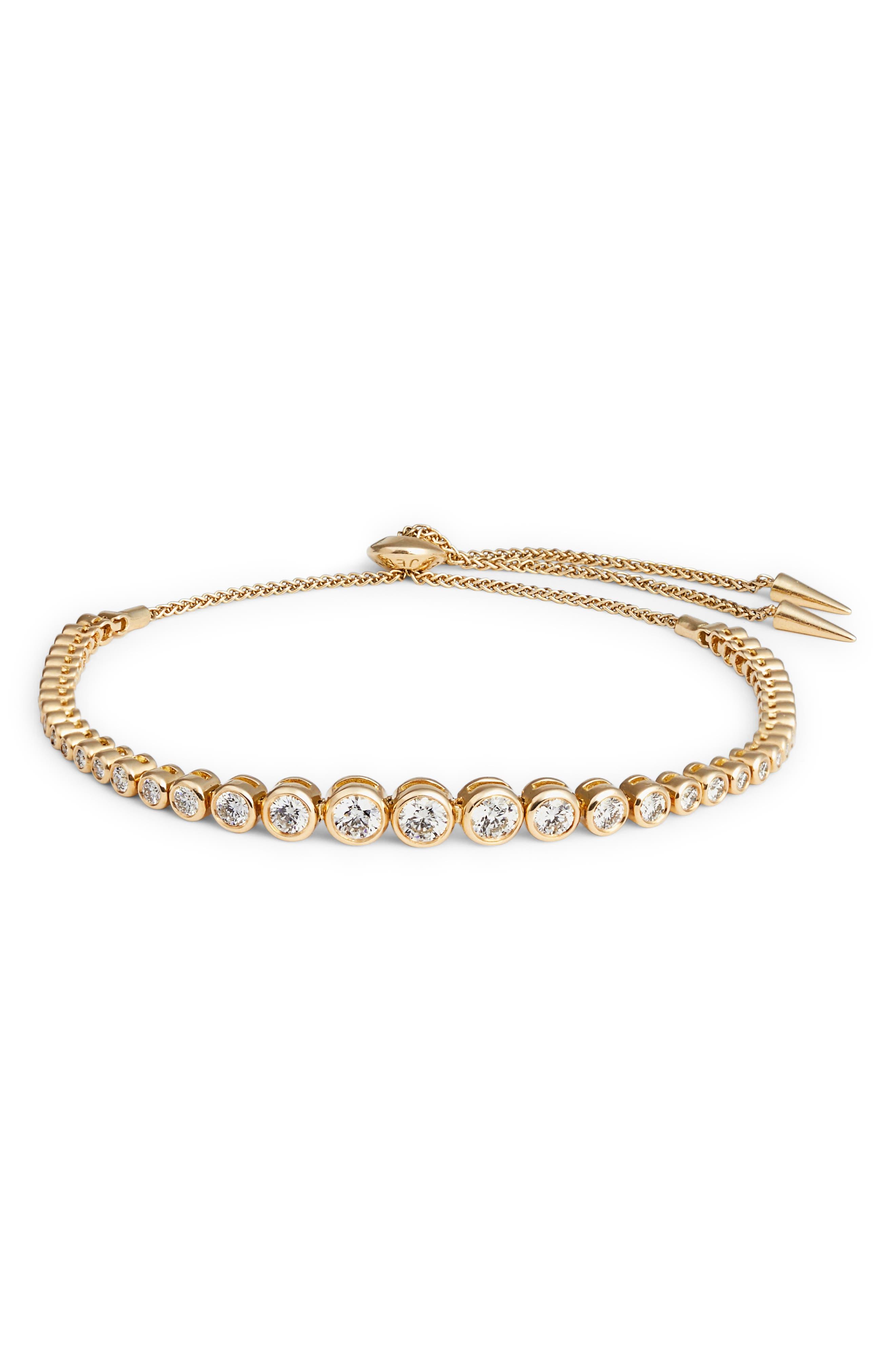 Prive Luxe Large Diamond Slider Bracelet,                         Main,                         color, Diamond