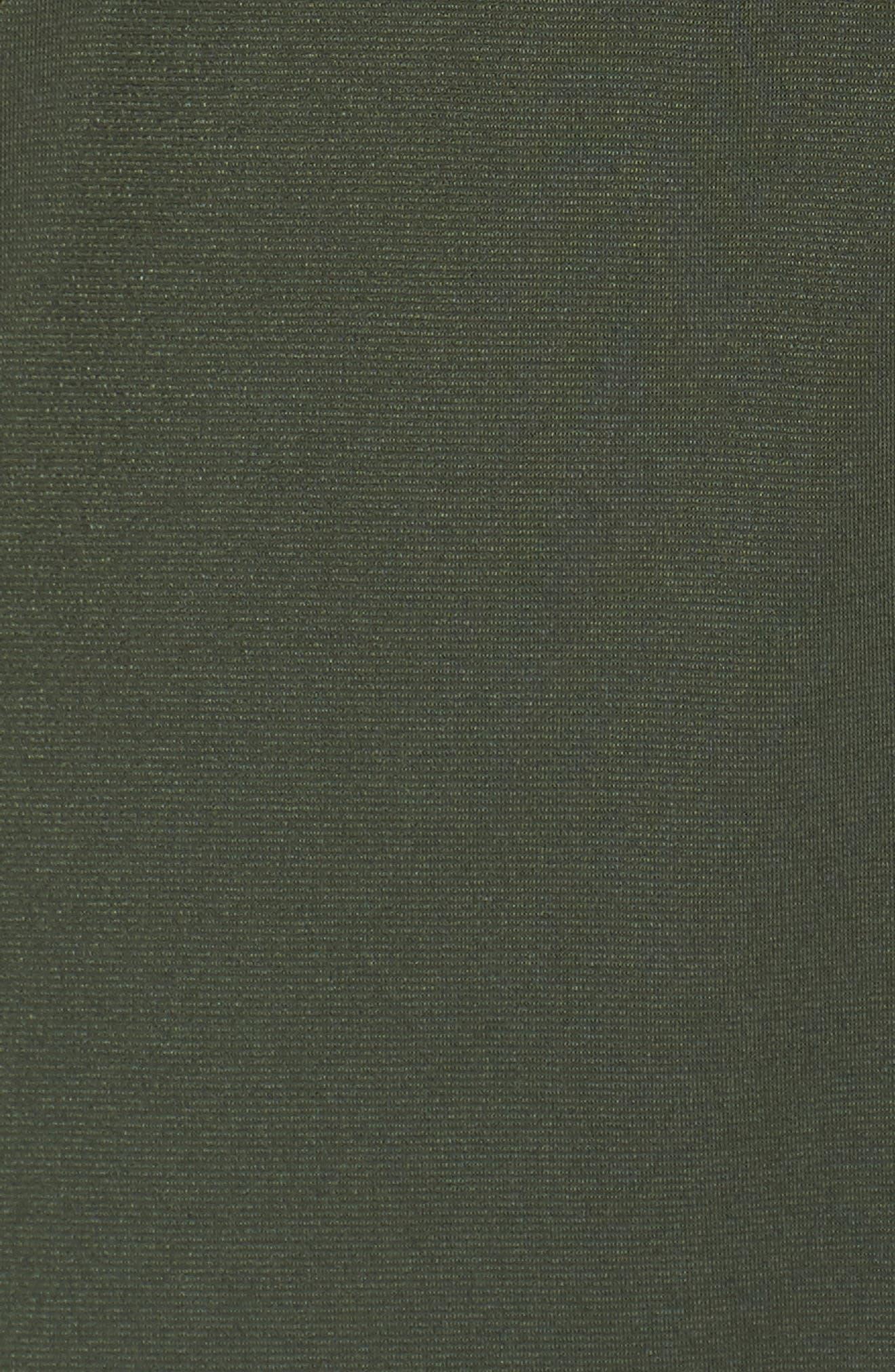 Matte Jersey Maxi Shirtdress,                             Alternate thumbnail 5, color,                             Ivy