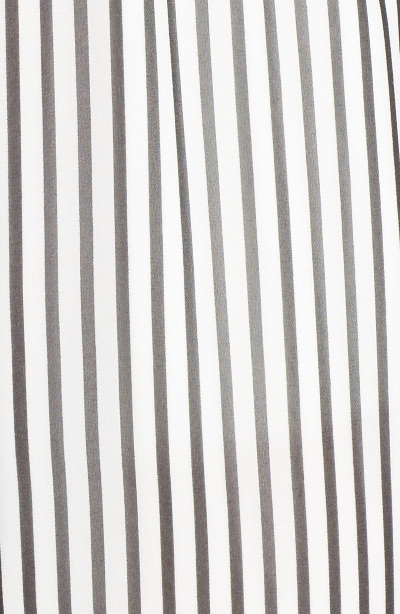 Cherry on Top Stripe Ruffle Jumpsuit,                             Alternate thumbnail 6, color,                             Black/ White Stripe