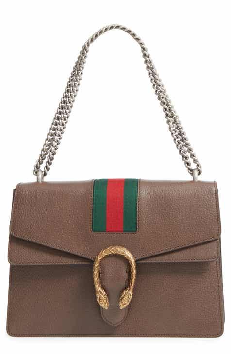 Gucci Dionysus Web Stripe Leather Shoulder Bag