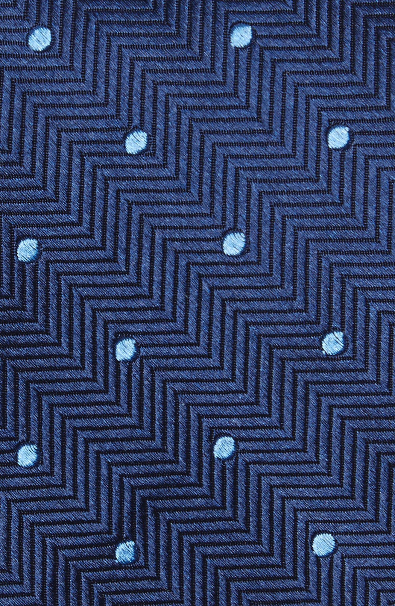 Dapper Dot Silk Tie,                             Alternate thumbnail 2, color,                             Navy