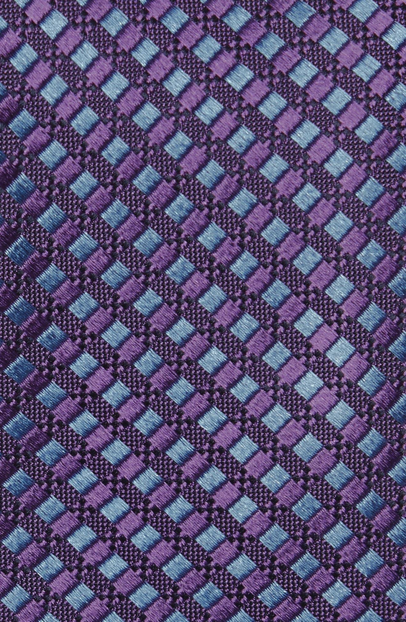 Nathan Neat Silk Tie,                             Alternate thumbnail 2, color,                             Purple