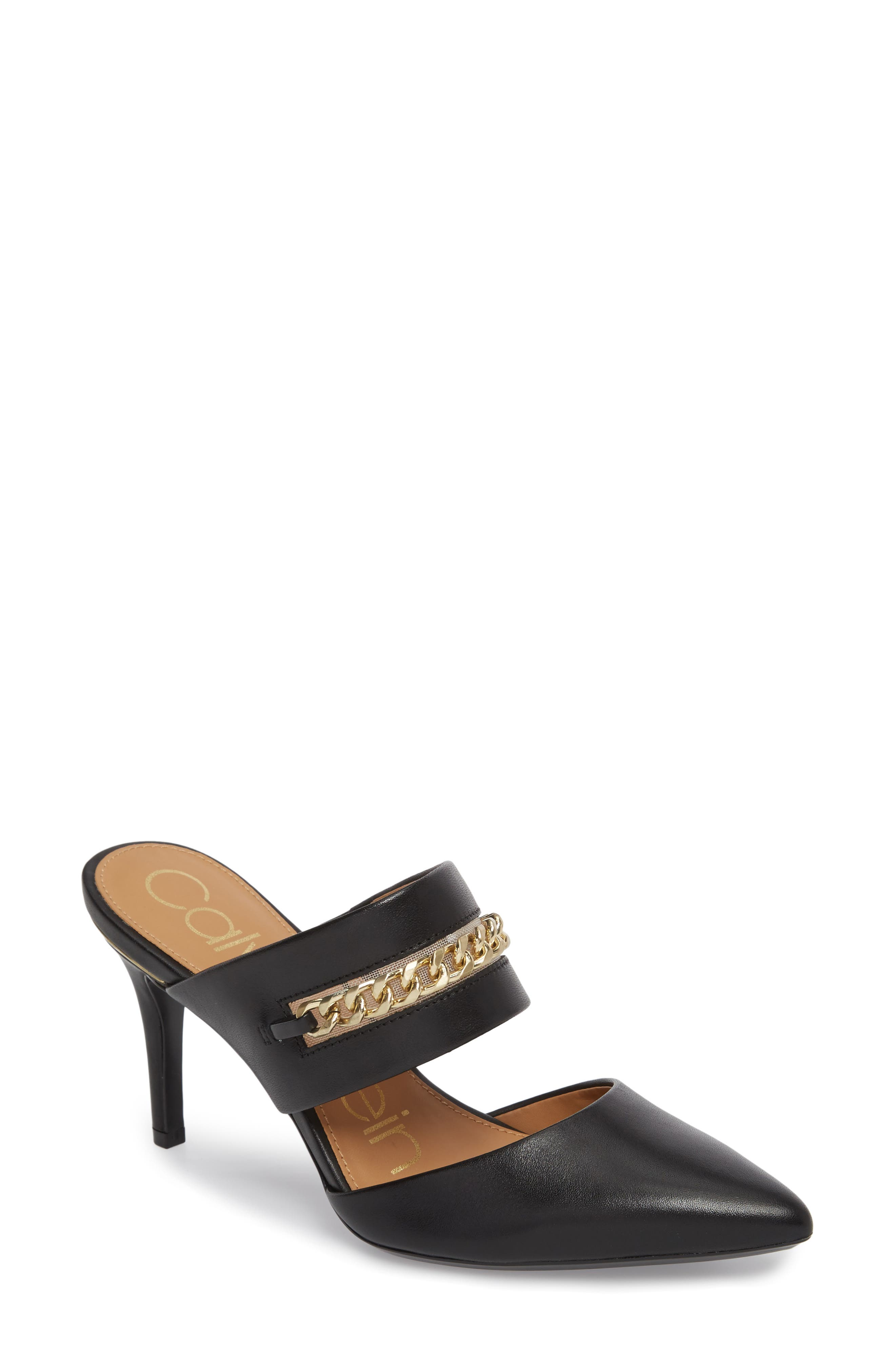 Alternate Image 1 Selected - Calvin Klein Ginette Embellished Pointy Toe Mule (Women)