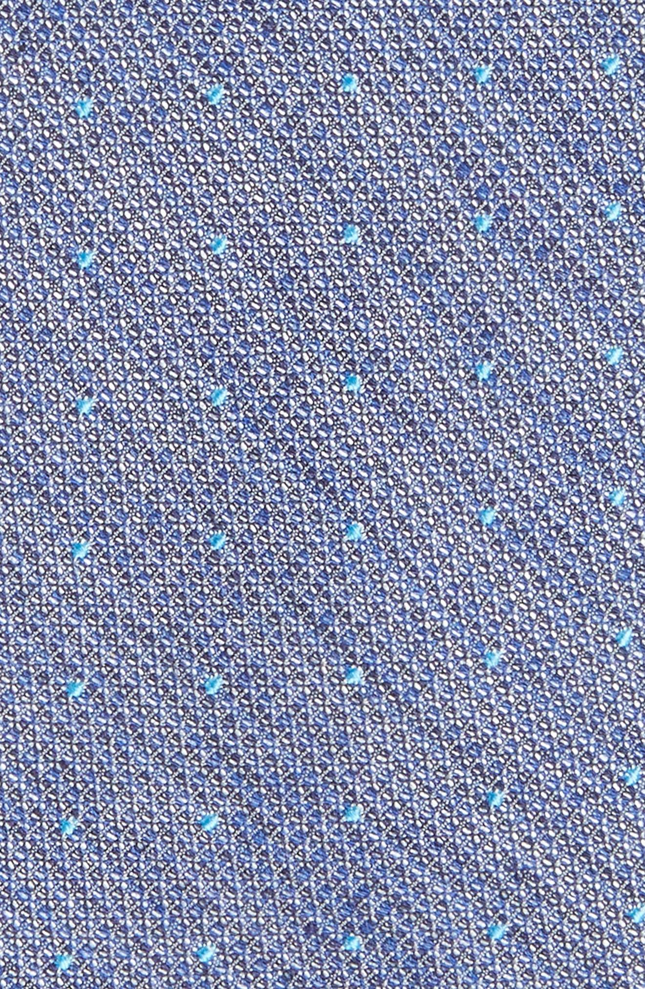 Dot Silk Blend Skinny Tie,                             Alternate thumbnail 2, color,                             Aqua/ Teal