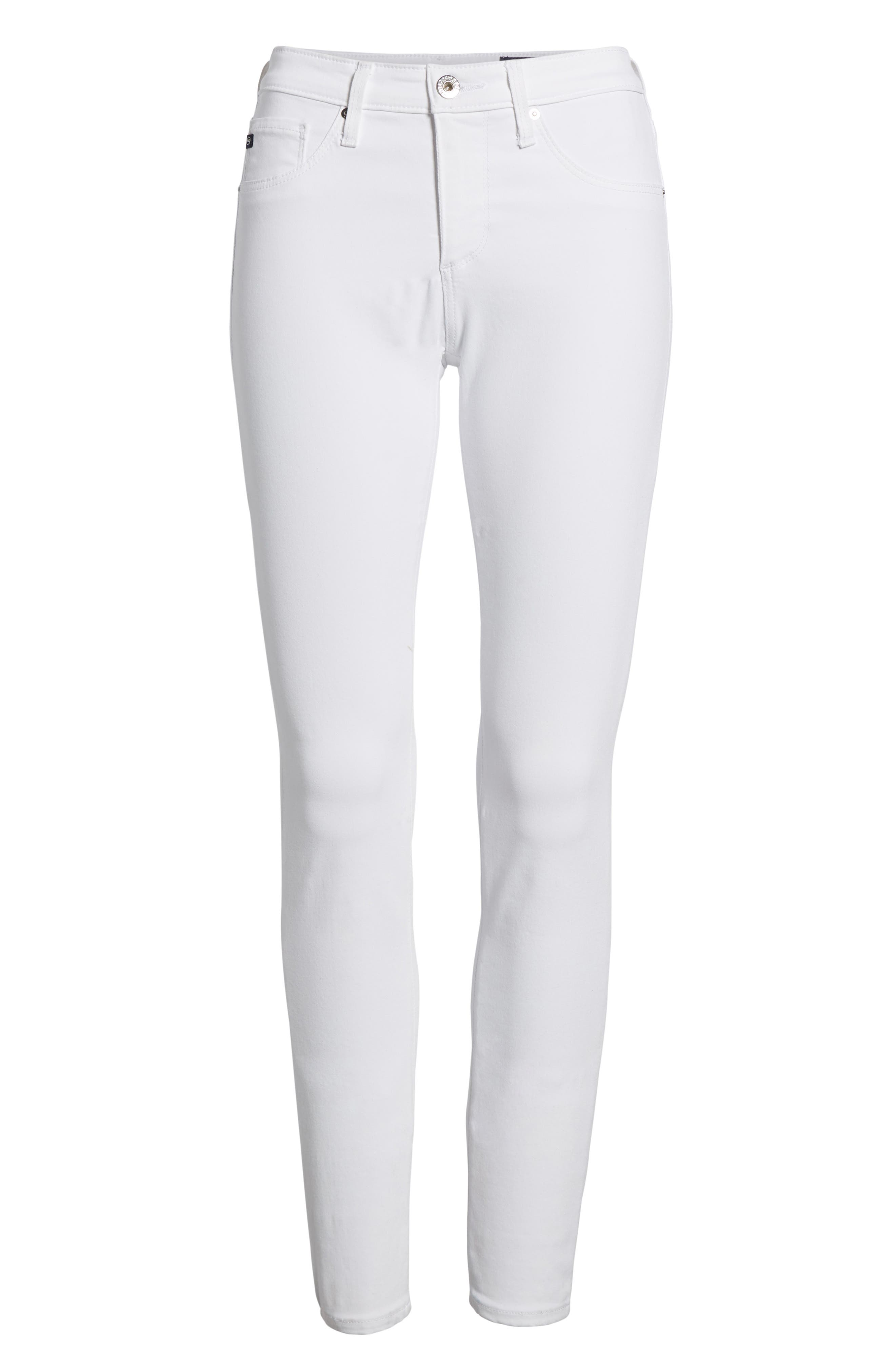 The Legging Ankle Super Skinny Jeans,                             Alternate thumbnail 7, color,                             White