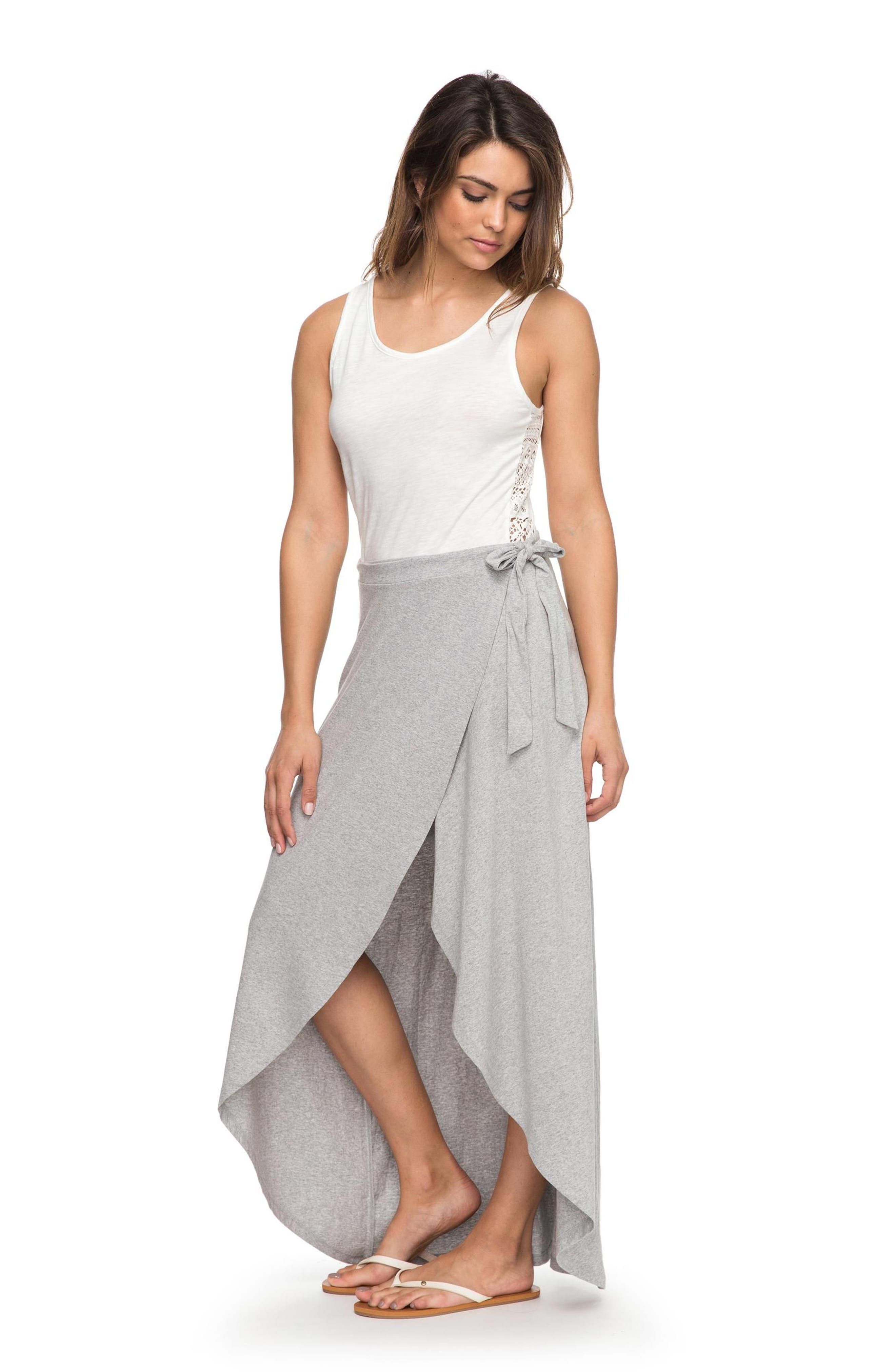 Everlasting Afternoon Long Wrap Skirt,                             Alternate thumbnail 2, color,                             Heritage Heather