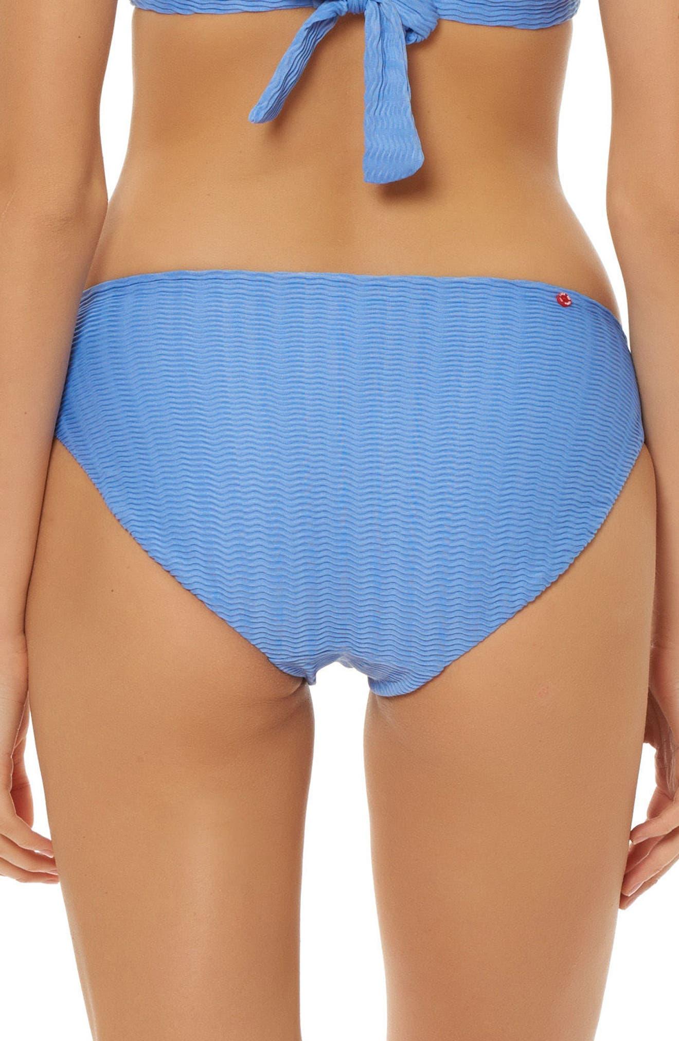 Textured Hipster Bikini Bottoms,                             Alternate thumbnail 2, color,                             Periwinkle