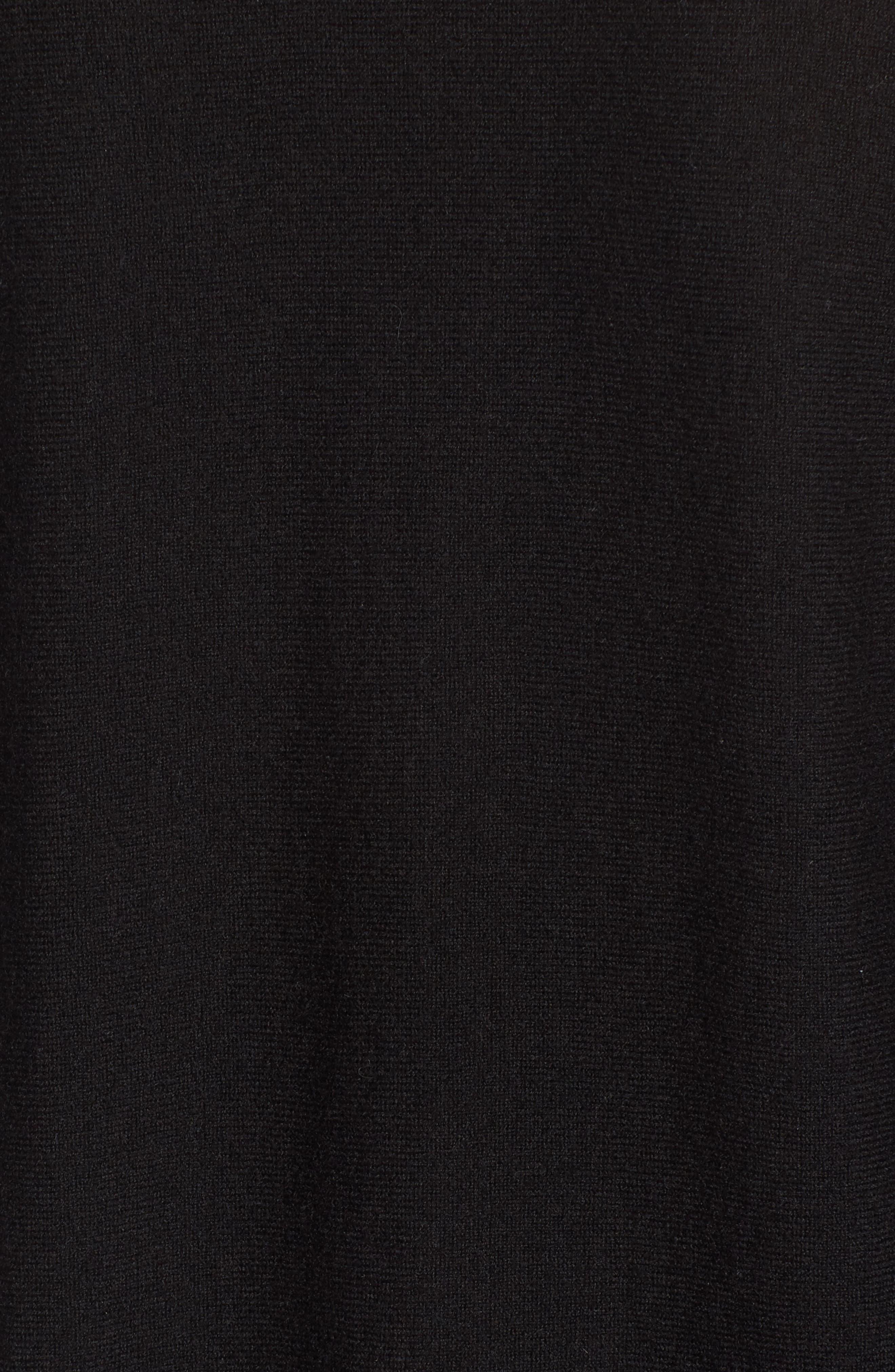 Cashmere Tunic Sweater,                             Alternate thumbnail 4, color,                             Black