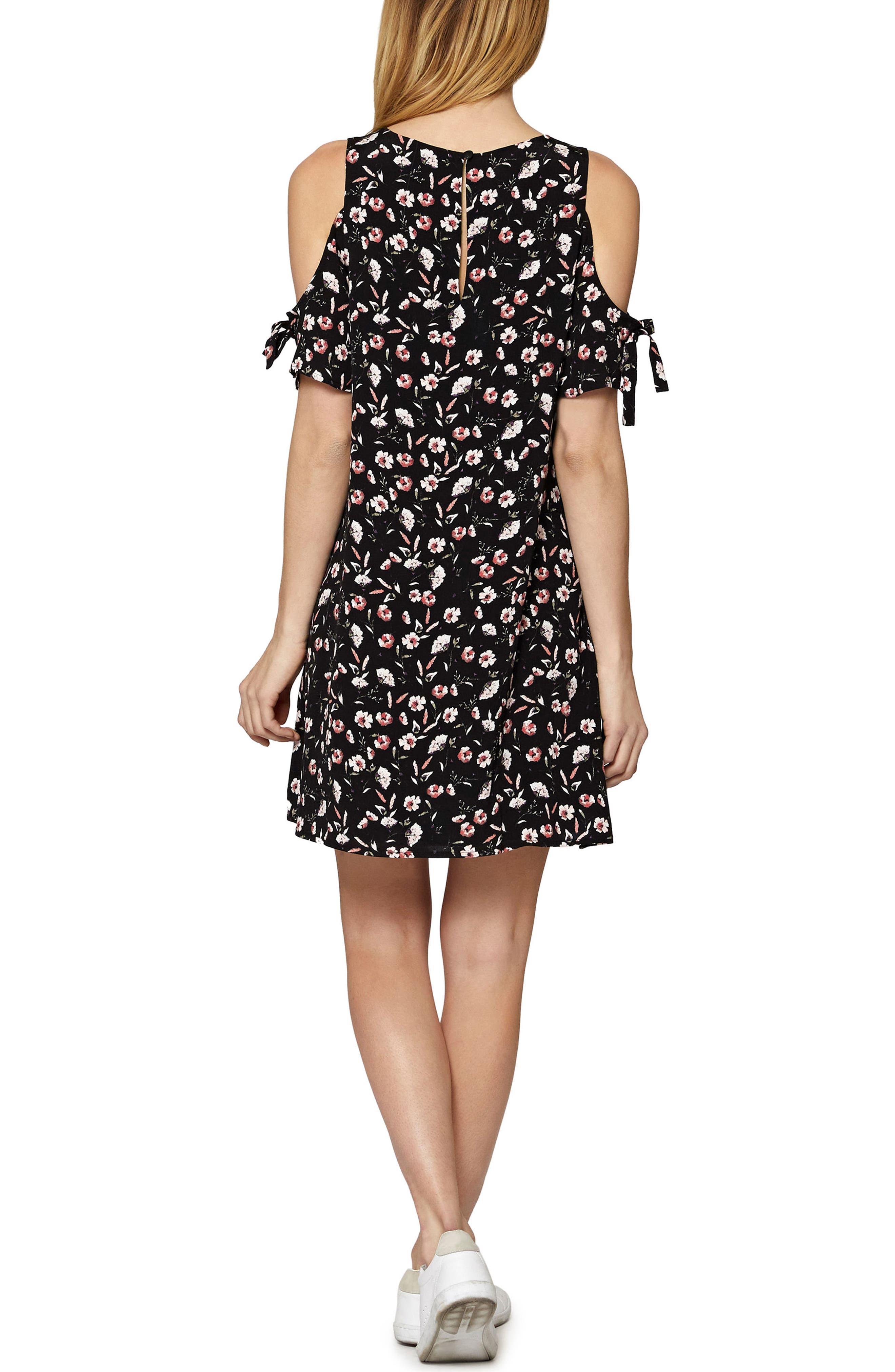 Valencia Cold Shoulder Floral Dress,                             Alternate thumbnail 2, color,                             Chelsea Flower