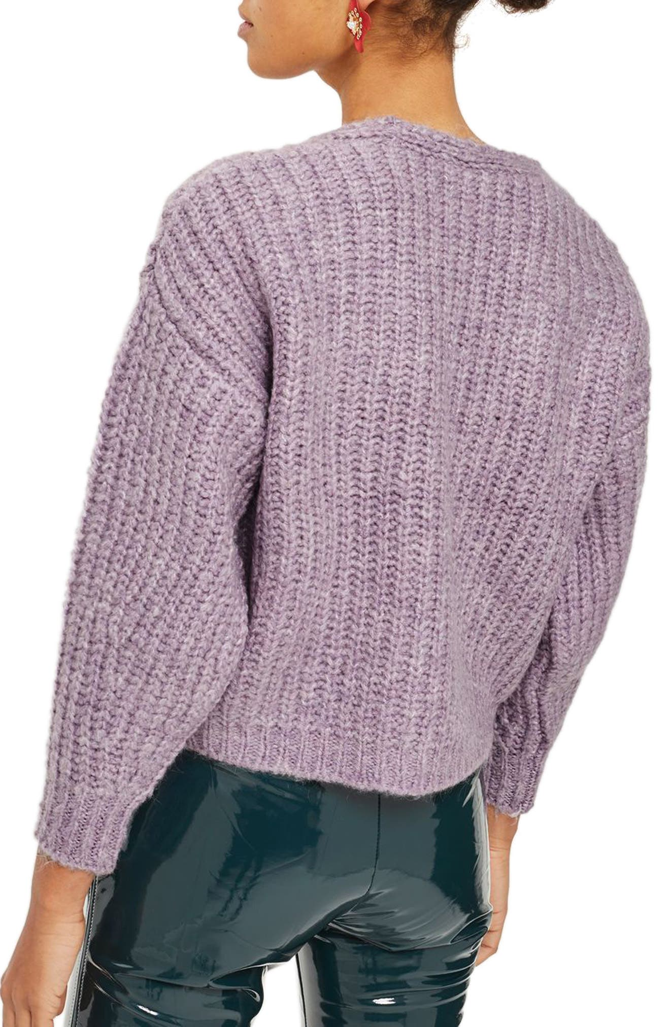 Alternate Image 2  - Topshop Oversized V-Neck Sweater