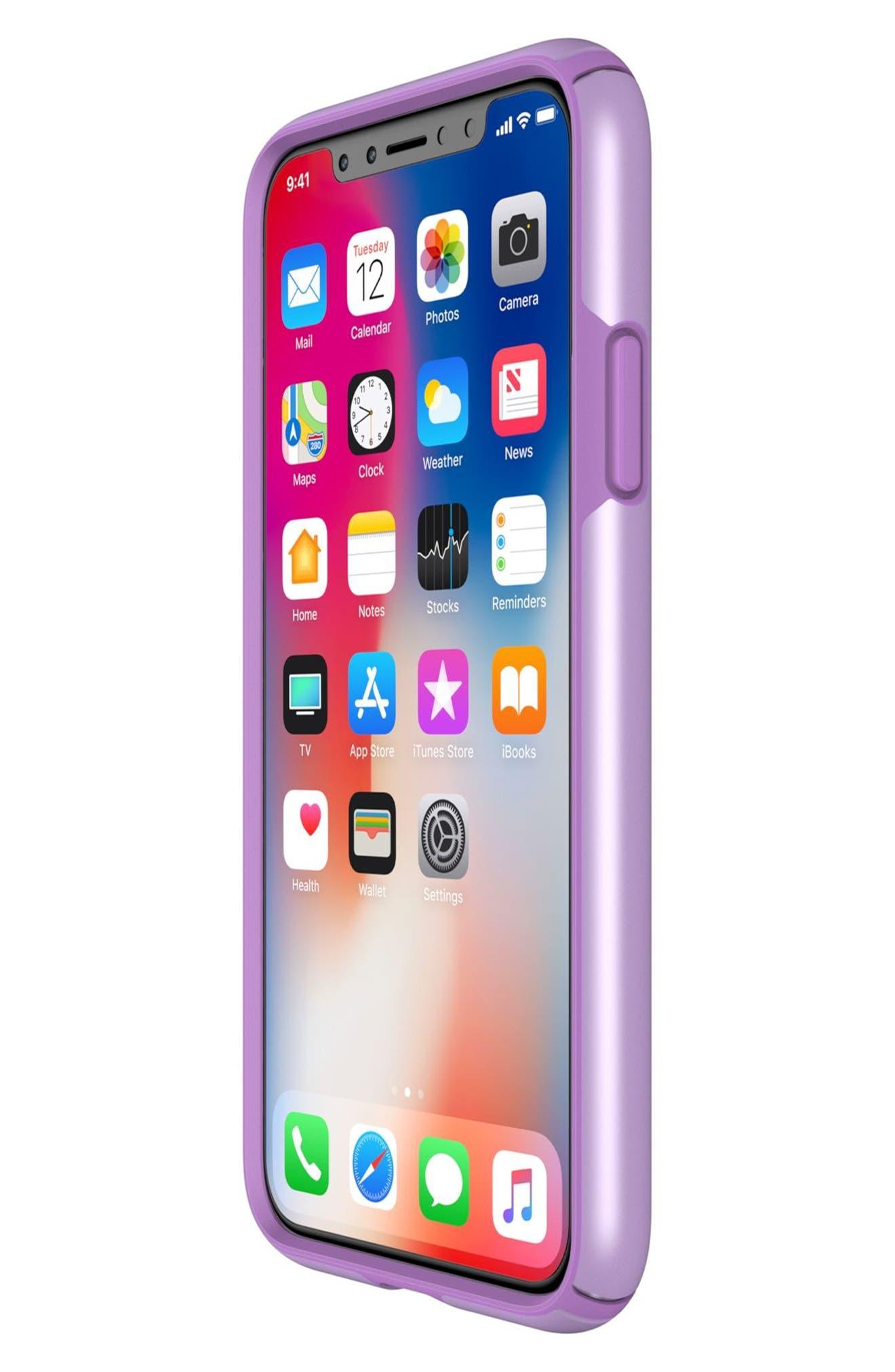iPhone X Case,                             Alternate thumbnail 7, color,                             Taro Purple Metallic/ Purple