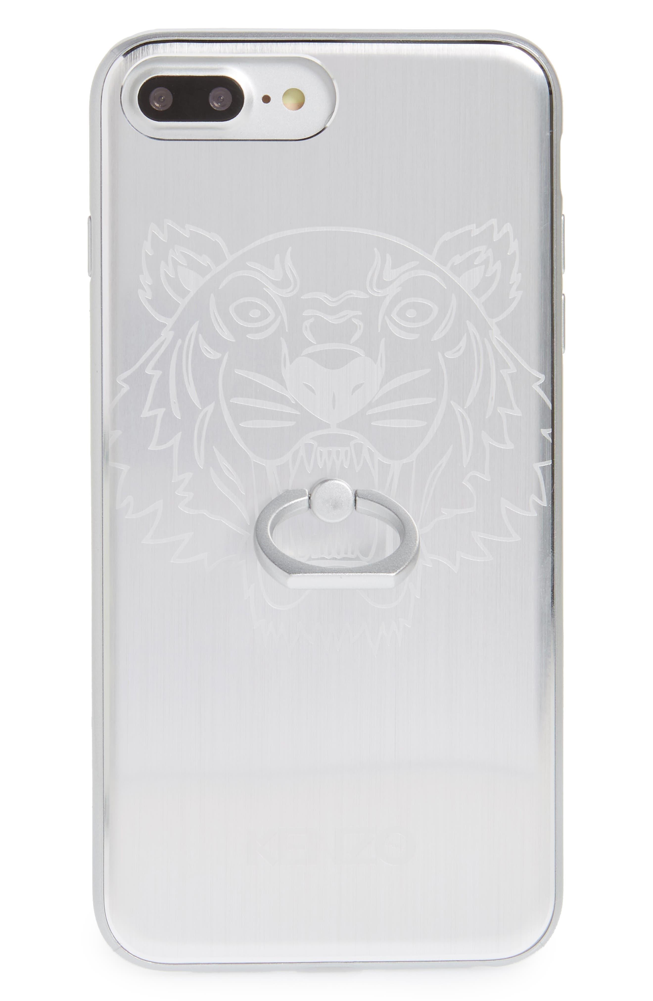 Alternate Image 1 Selected - KENZO Tiger Ring Aluminum iPhone 7 Plus Case