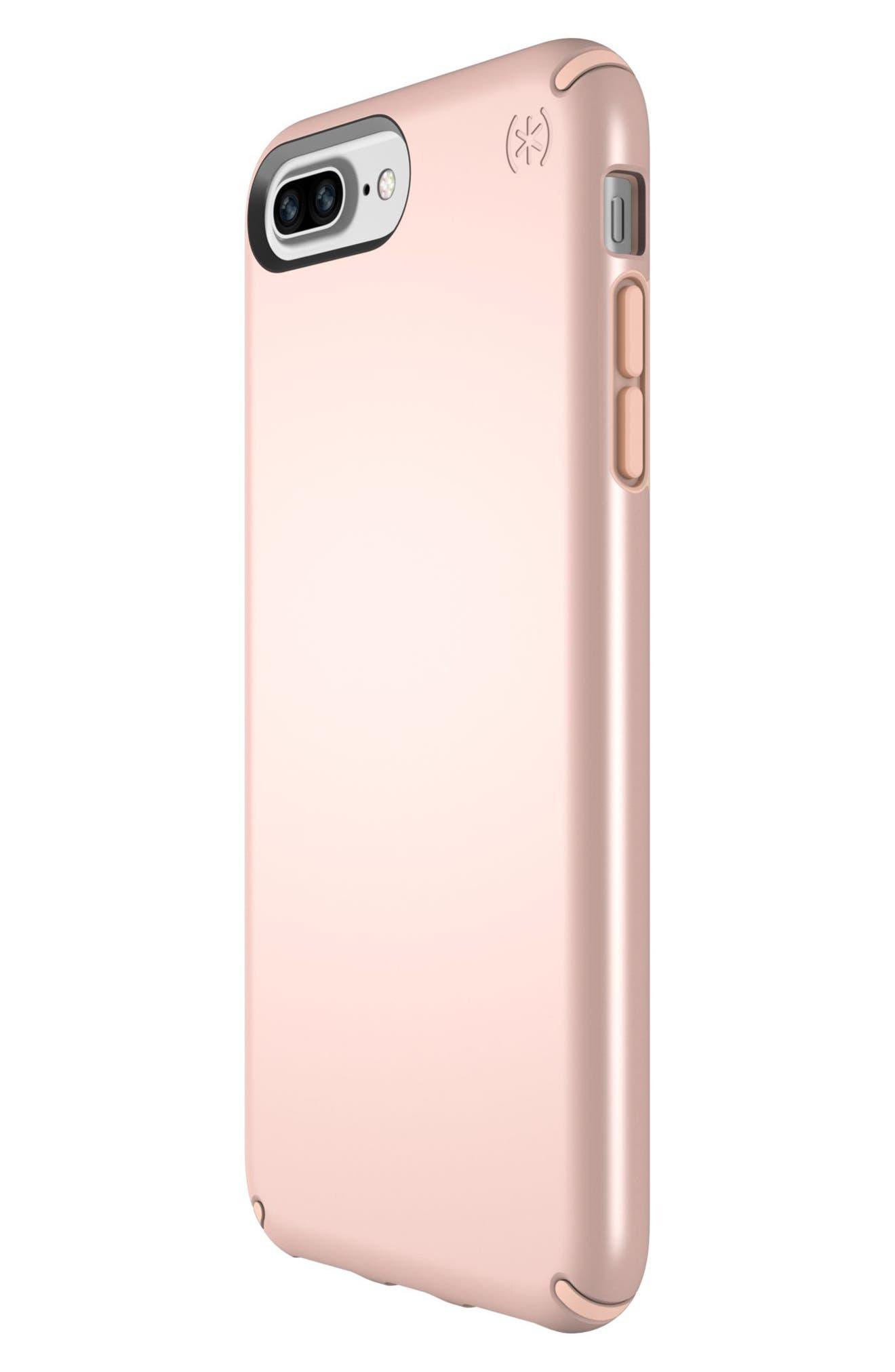iPhone 6/6s/7/8 Plus Case,                             Alternate thumbnail 5, color,                             Rose Gold Metallic/ Peach