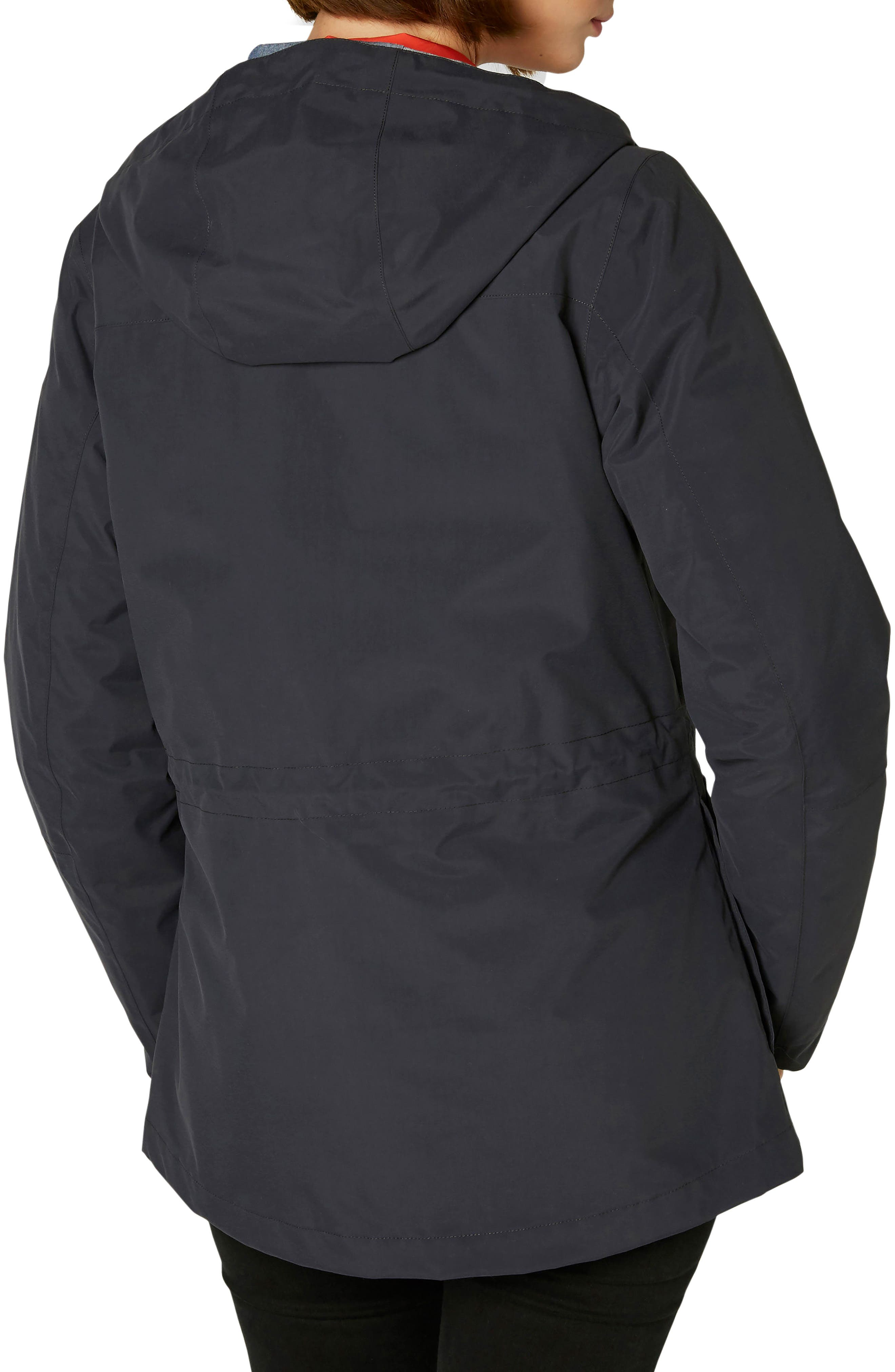 Elements Hooded Rain Jacket,                             Alternate thumbnail 2, color,                             Graphite Blue