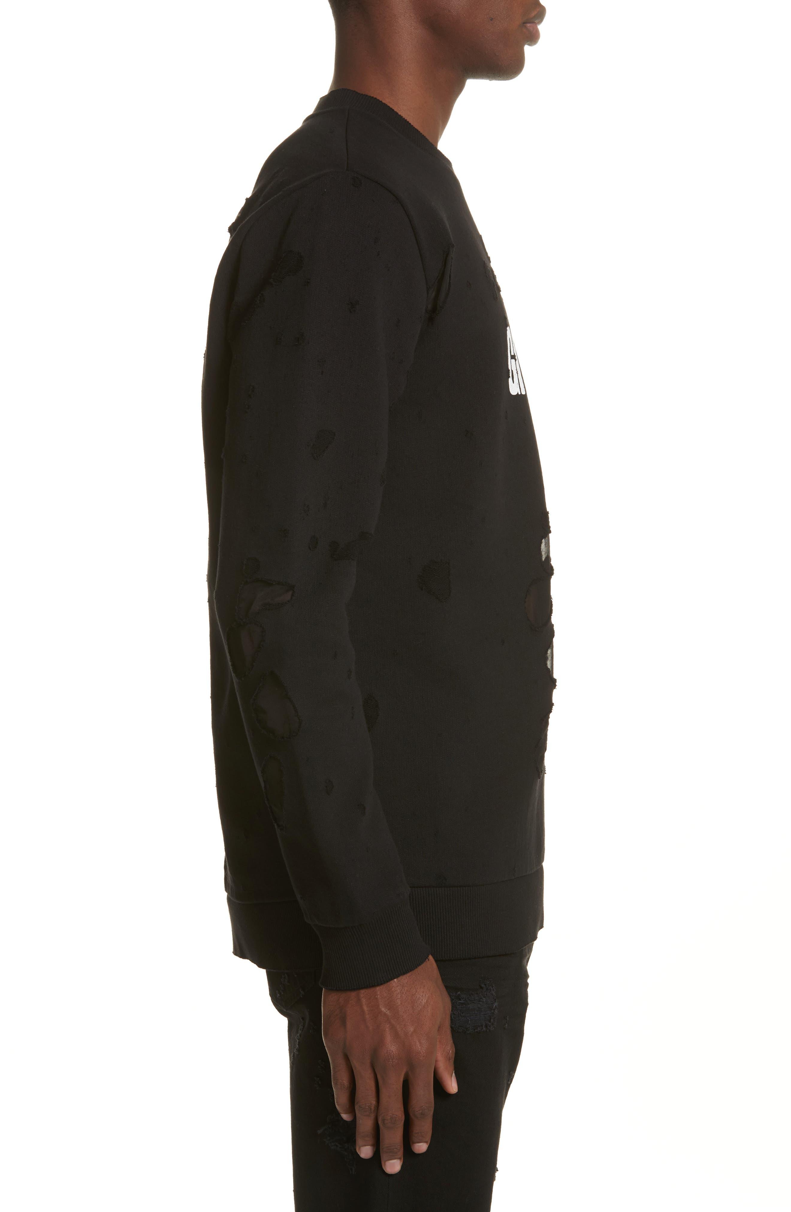 Alternate Image 3  - Givenchy Destroyed Logo Sweatshirt
