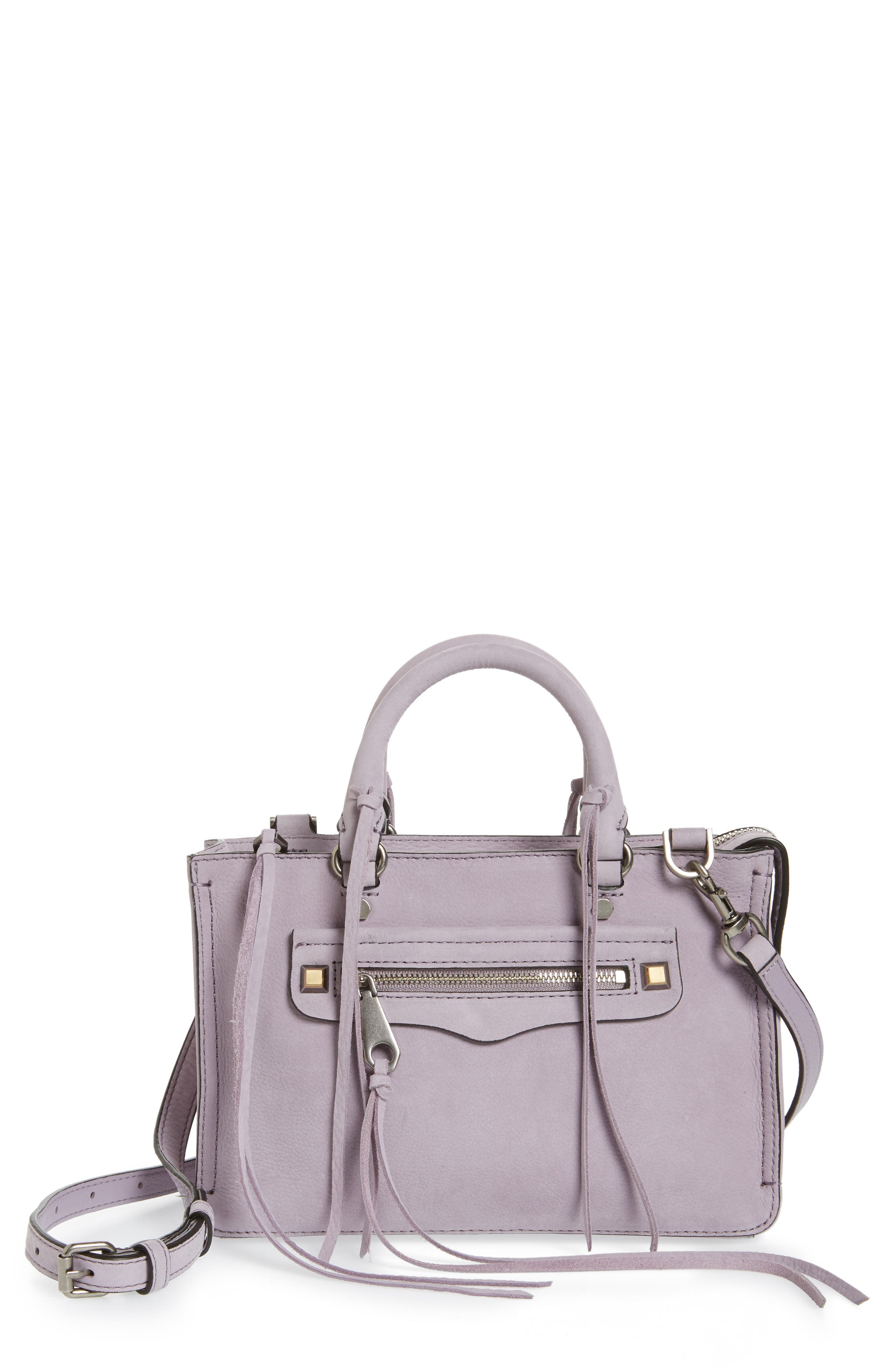 Alternate Image 1 Selected - Rebecca Minkoff Micro Regan Leather Satchel