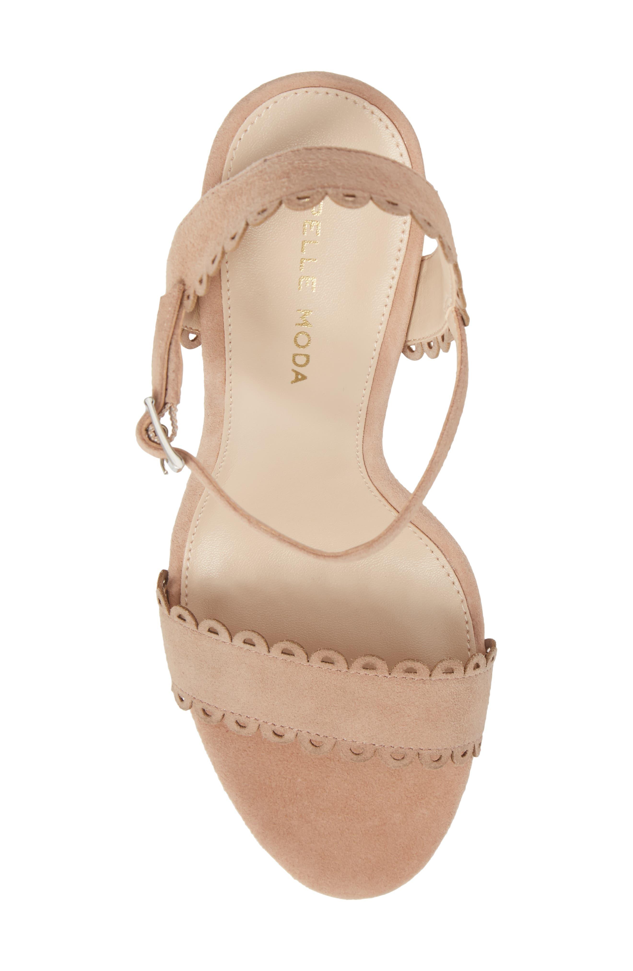 Alternate Image 5  - Pelle Moda Karen Scallop Ankle Strap Sandal (Women)