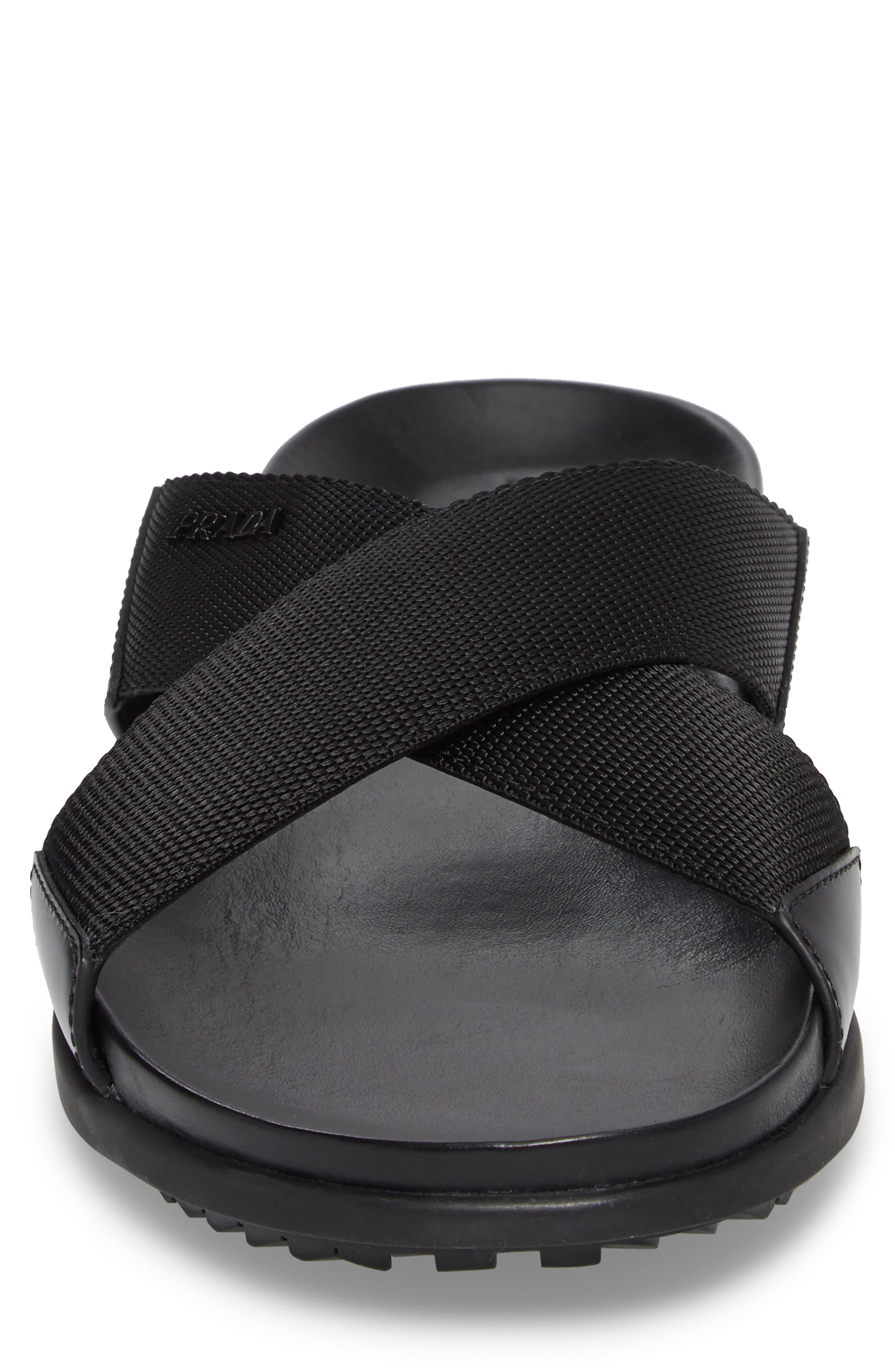 Linea Rossa Slide Sandal,                             Alternate thumbnail 4, color,                             Nero